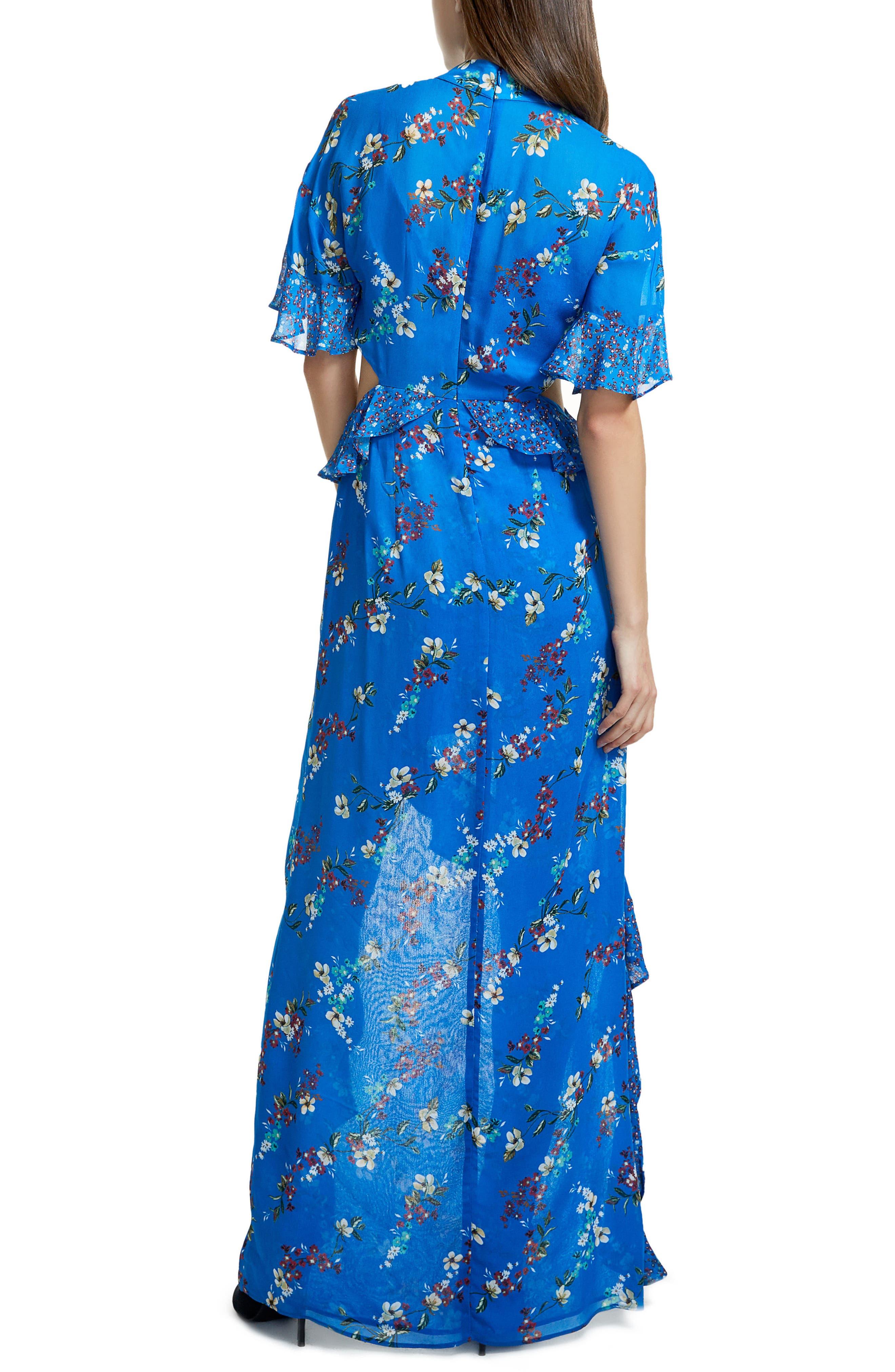 Melsa Cutout Maxi Dress,                             Alternate thumbnail 2, color,