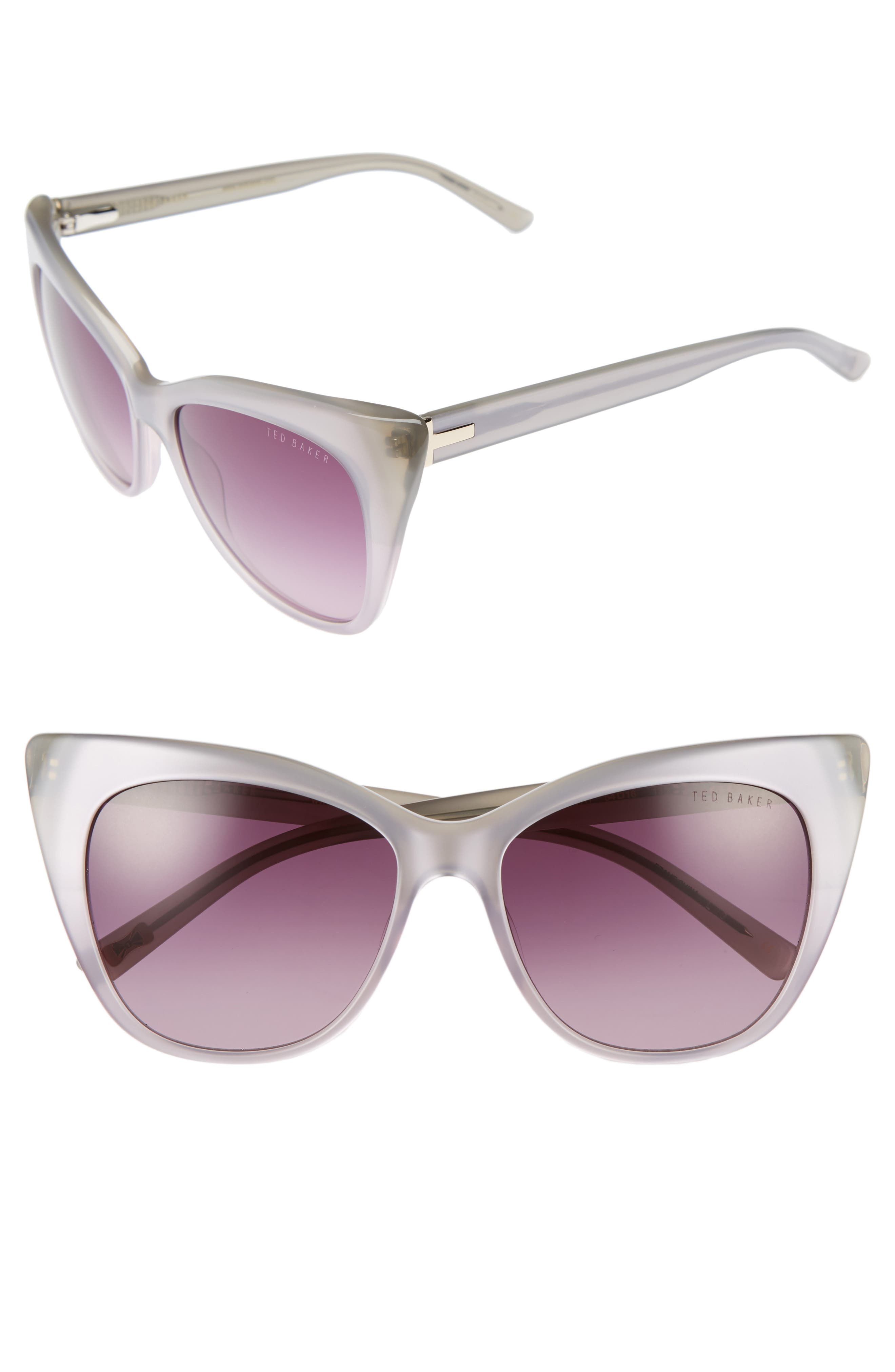 54mm Cat Eye Sunglasses,                             Main thumbnail 1, color,                             020