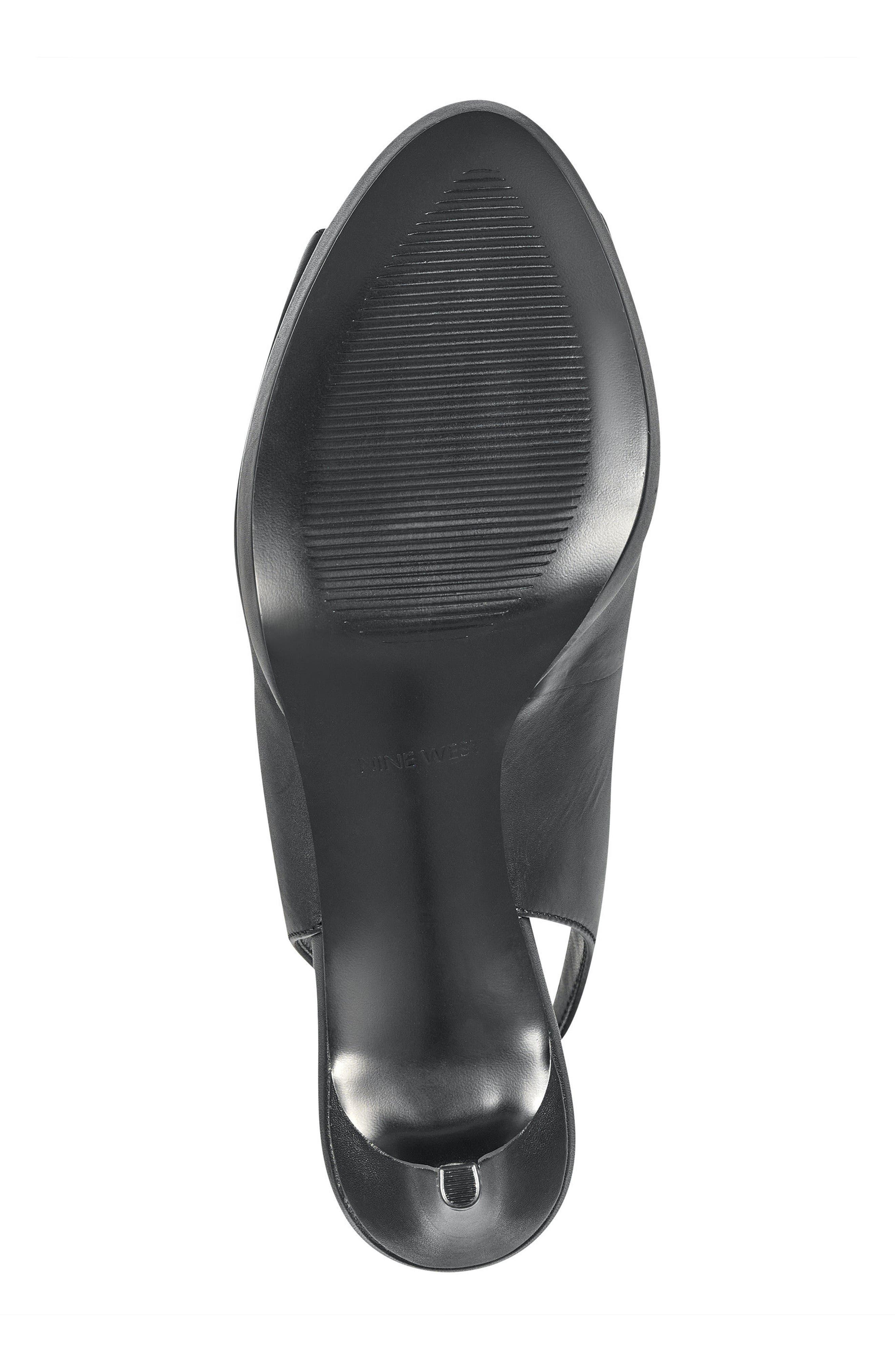 Gabrielle Peep Toe Slingback Pump,                             Alternate thumbnail 6, color,                             001