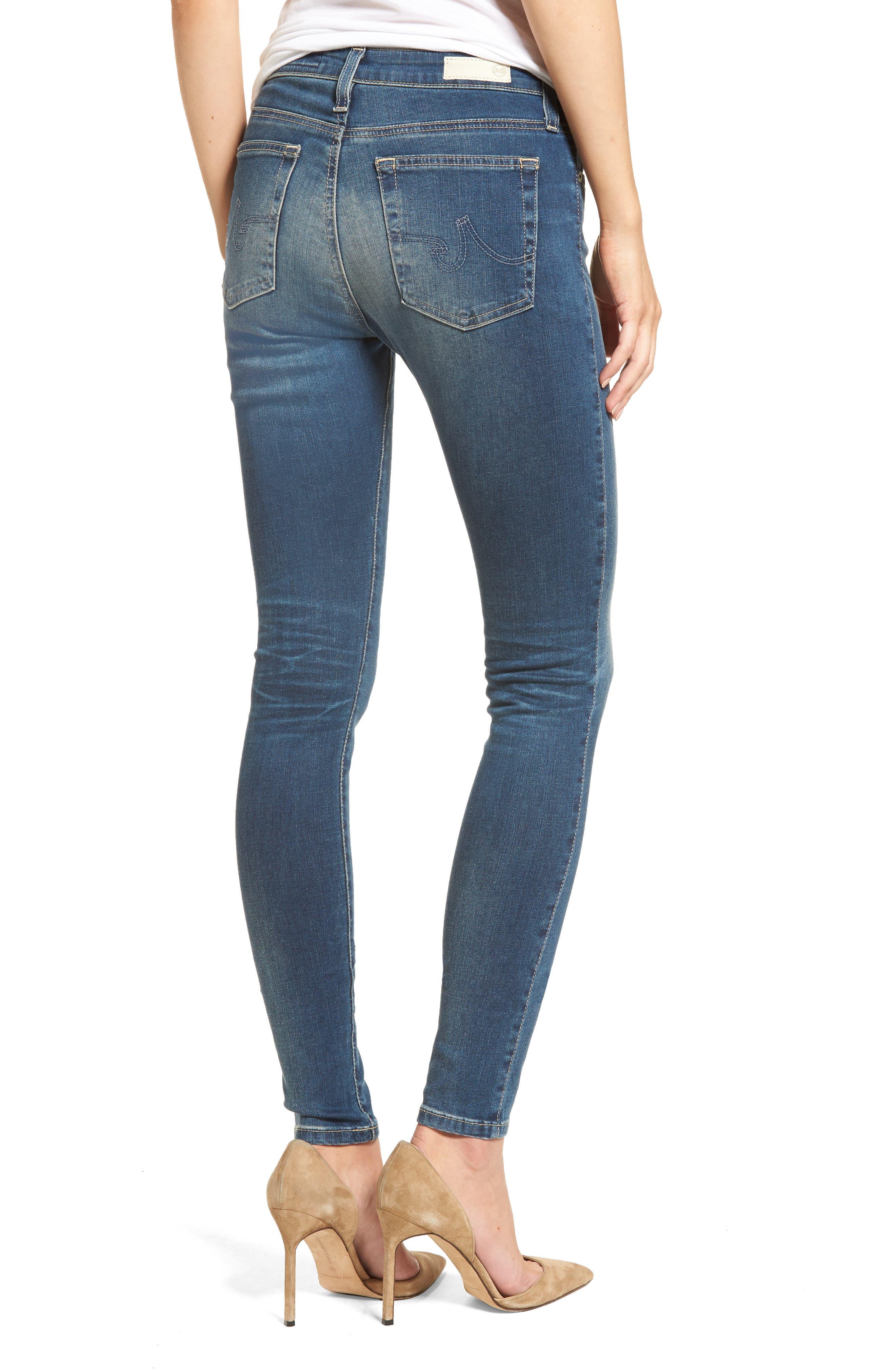 'The Farrah' High Rise Skinny Jeans,                             Alternate thumbnail 13, color,