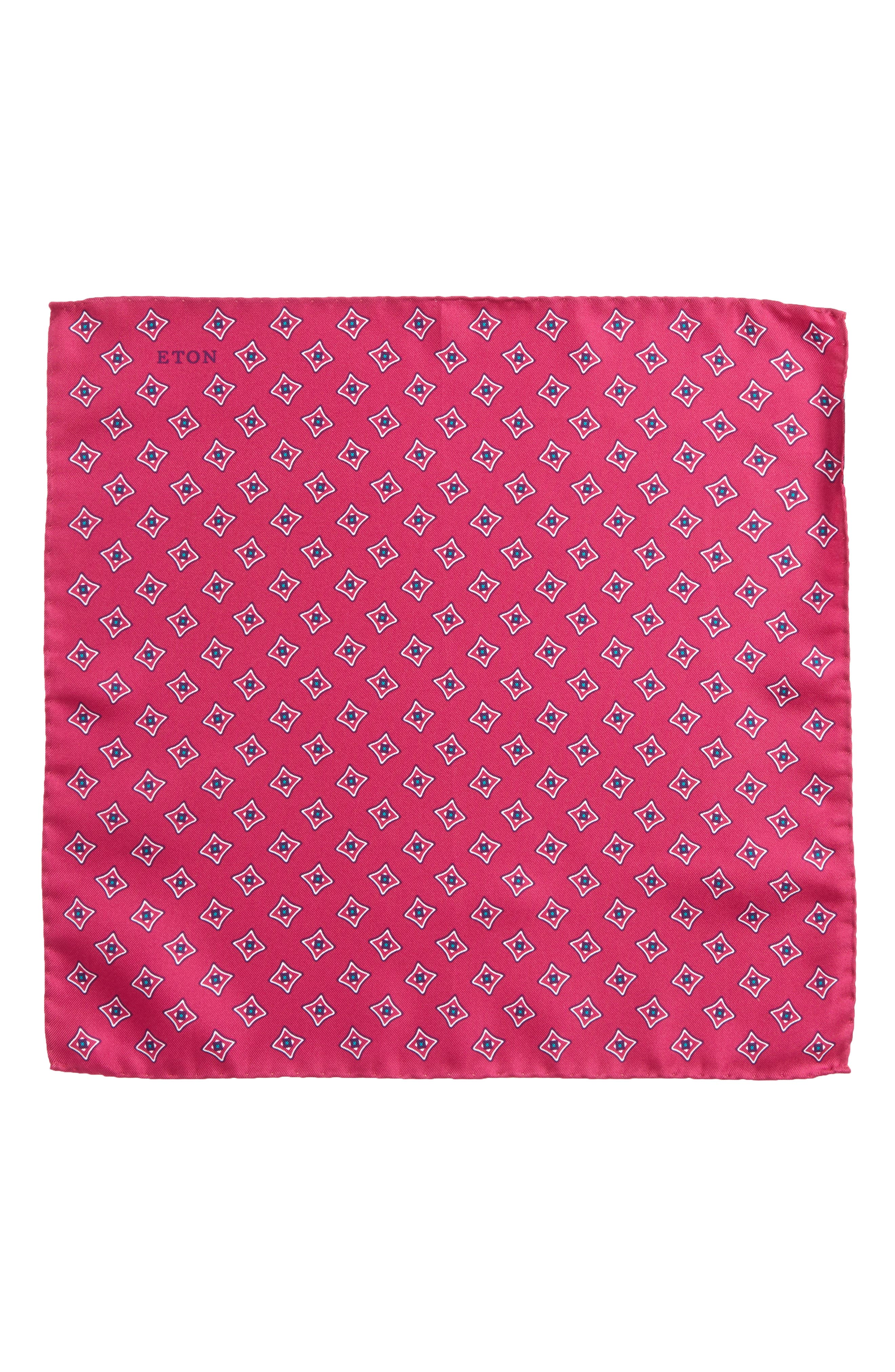 Medallion Silk Pocket Square,                             Alternate thumbnail 6, color,