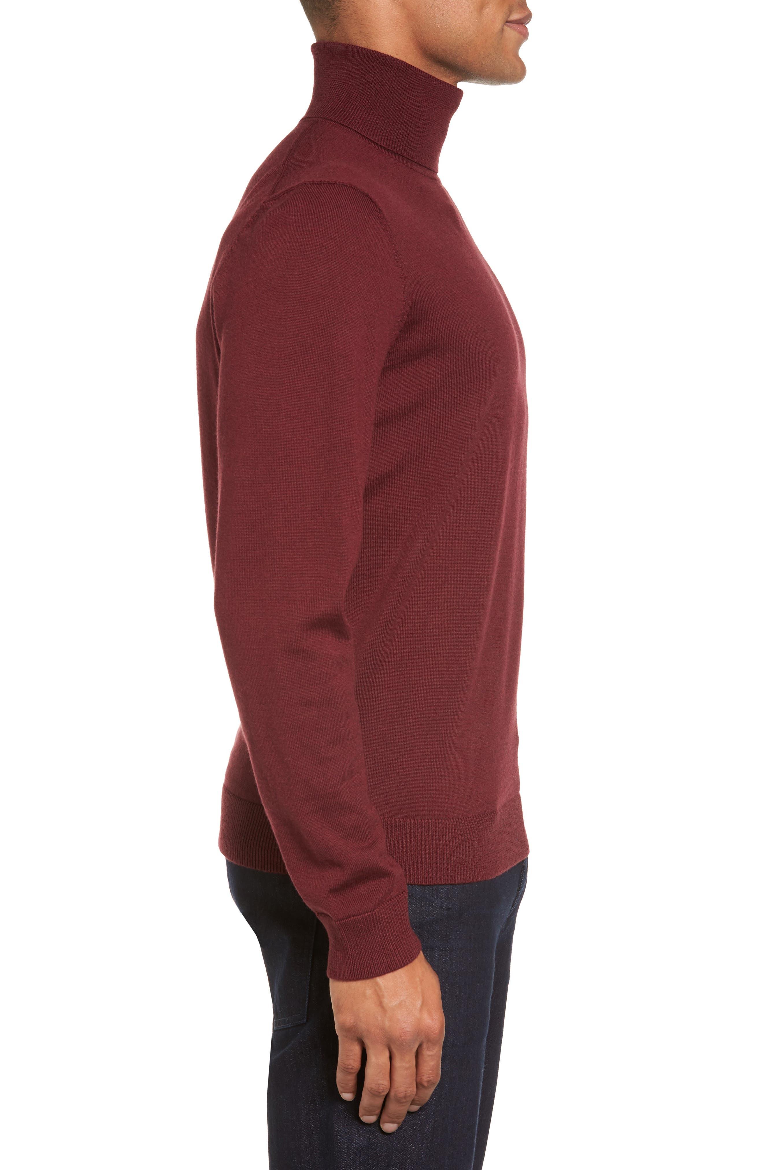 Merino Wool Turtleneck Sweater,                             Alternate thumbnail 18, color,
