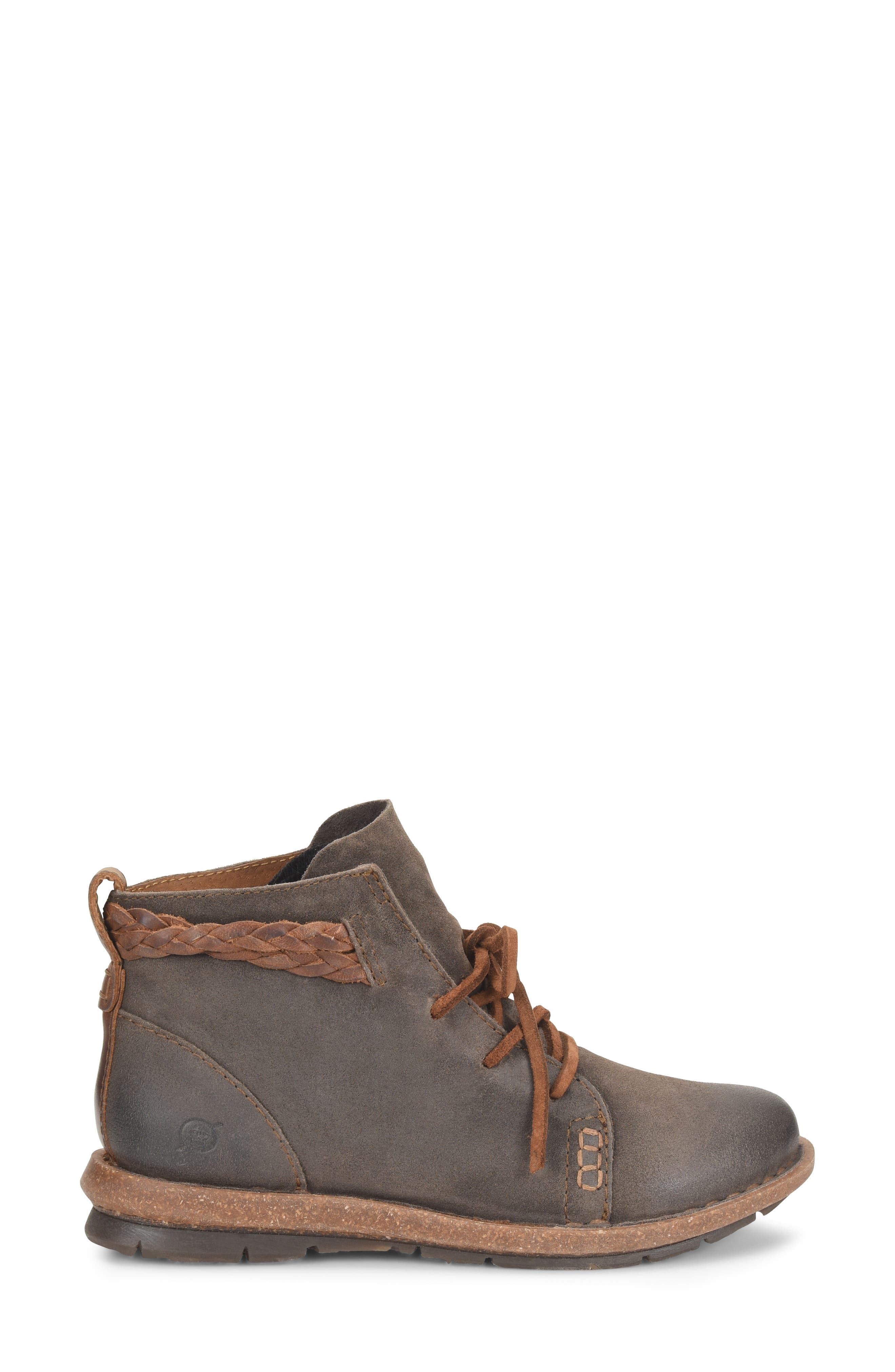 Temple Bootie,                             Alternate thumbnail 3, color,                             TAUPE DISTRESSED LEATHER