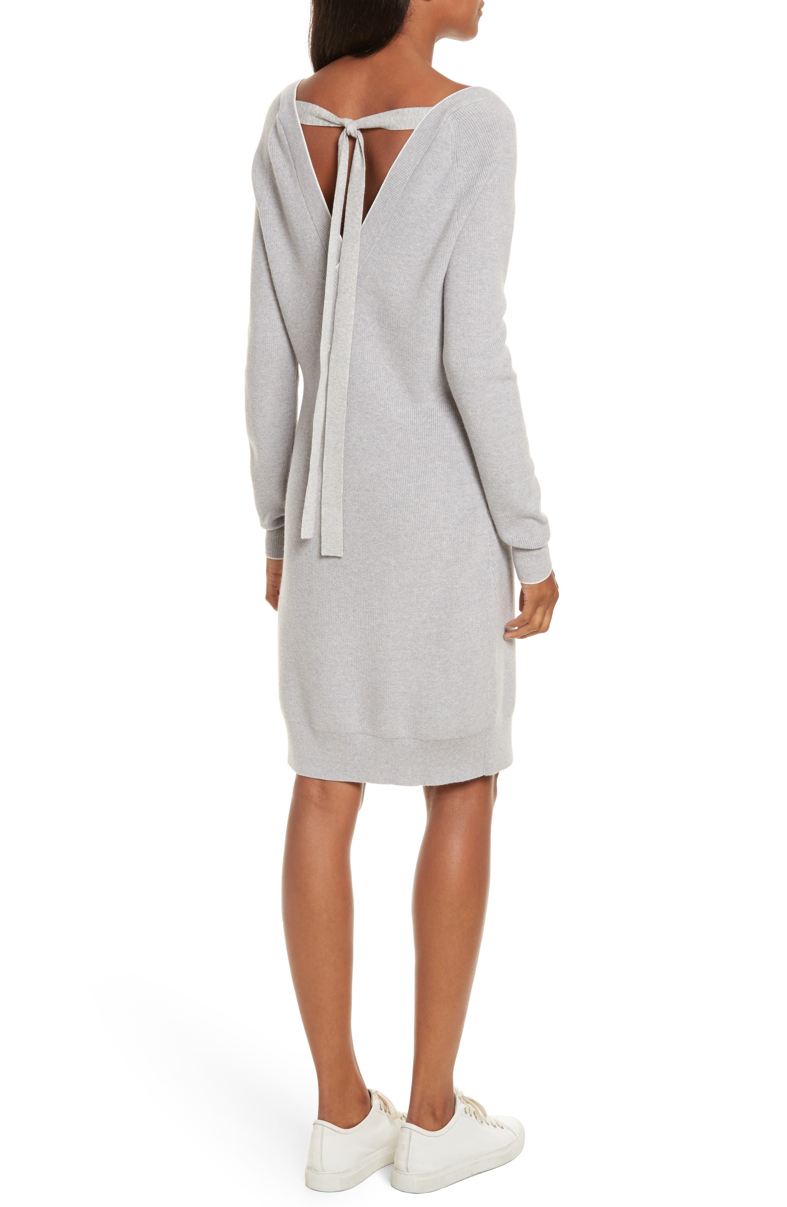 Wool Blend Sweater Dress,                             Alternate thumbnail 2, color,                             023