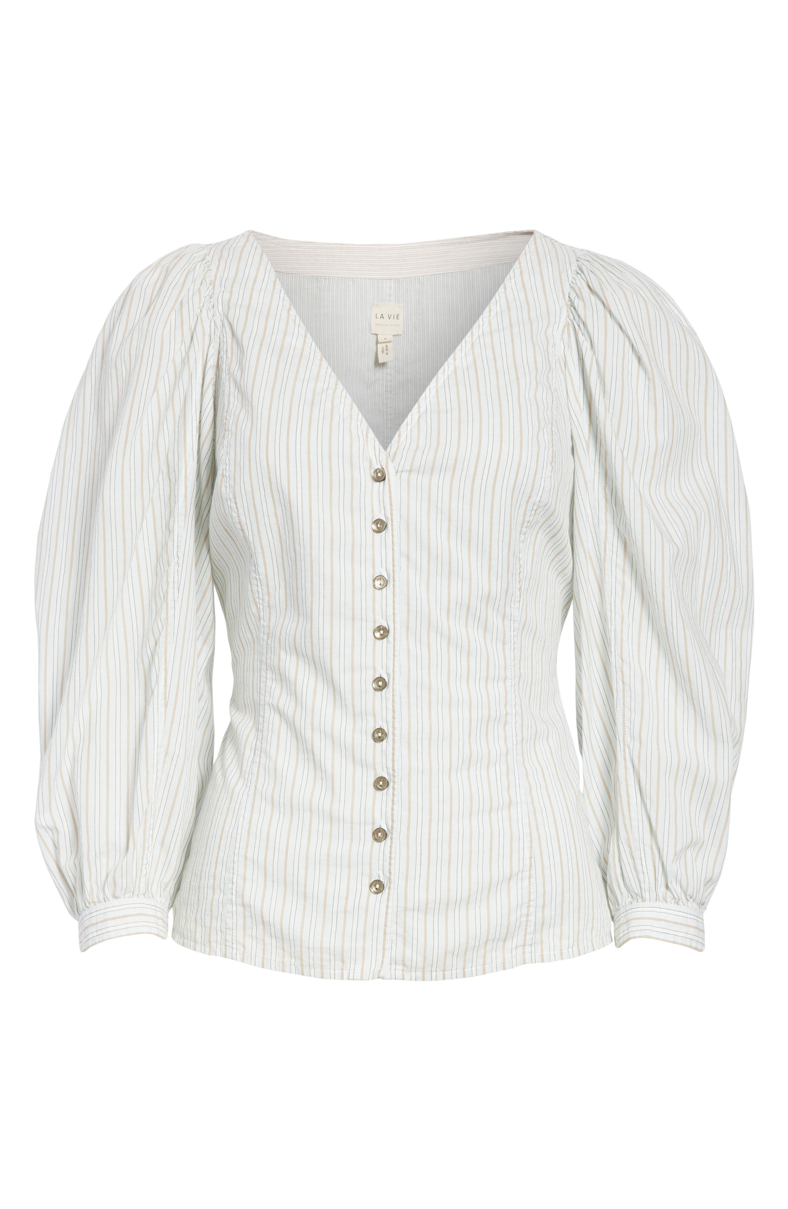 Mixed Stripe Top,                             Alternate thumbnail 6, color,                             186
