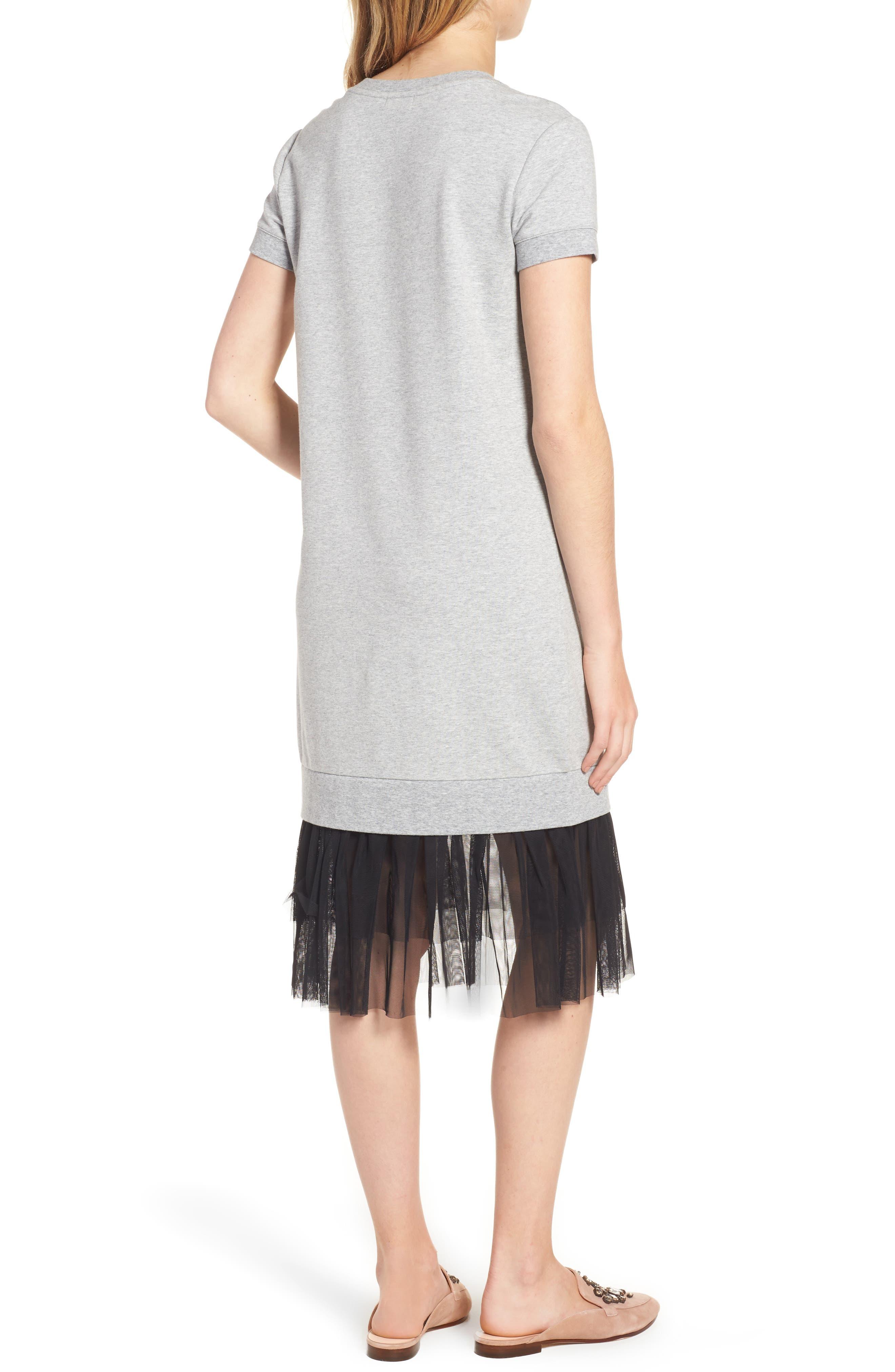 Ruffle Hem Midi Dress,                             Alternate thumbnail 2, color,                             030
