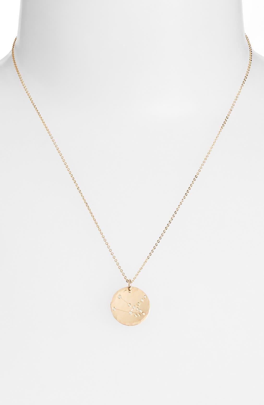 Ija 'Small Zodiac' 14k-Gold Fill Necklace,                             Alternate thumbnail 26, color,