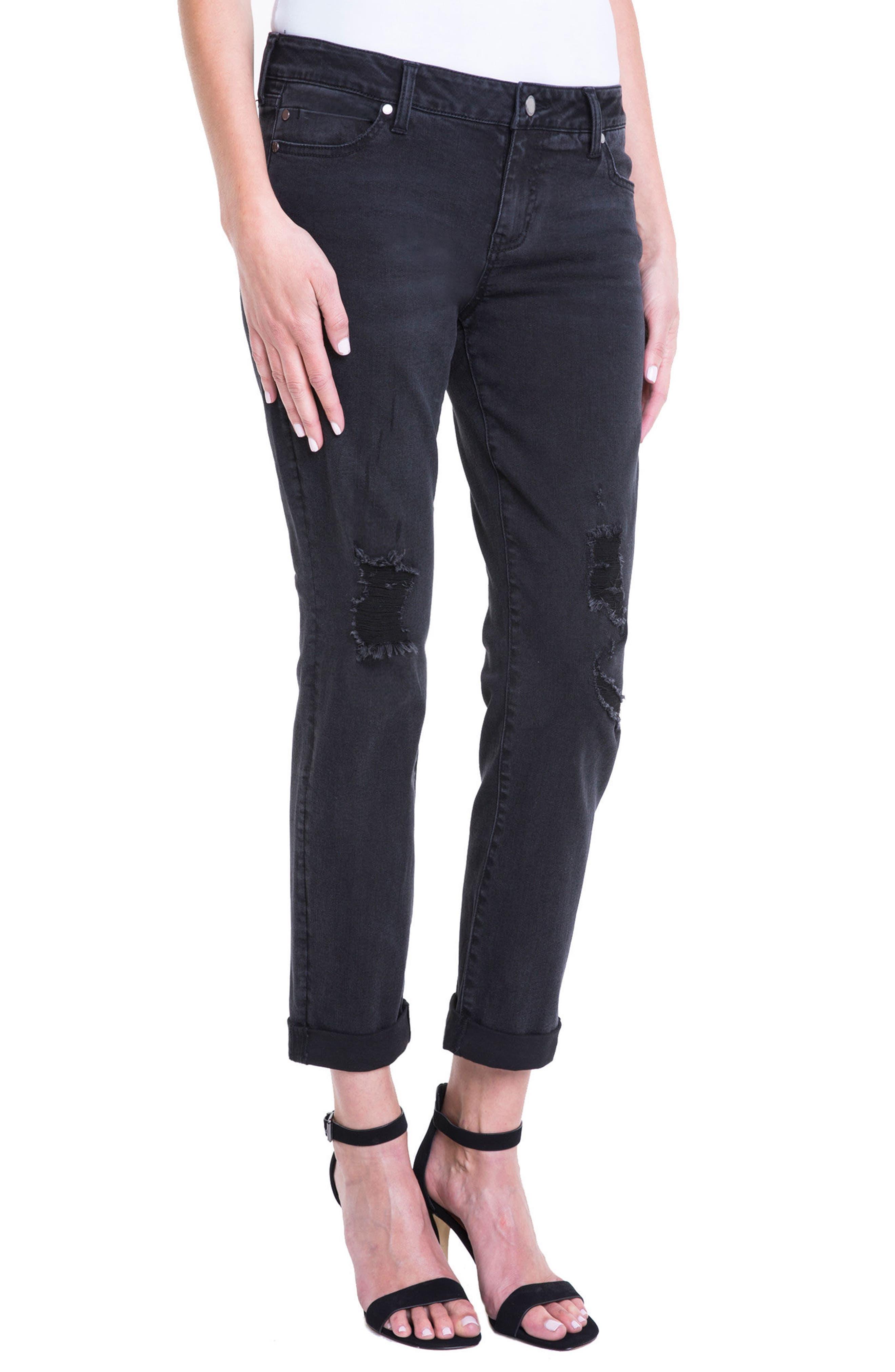 Peyton Slim Stretch Crop Boyfriend Jeans,                             Alternate thumbnail 3, color,                             024