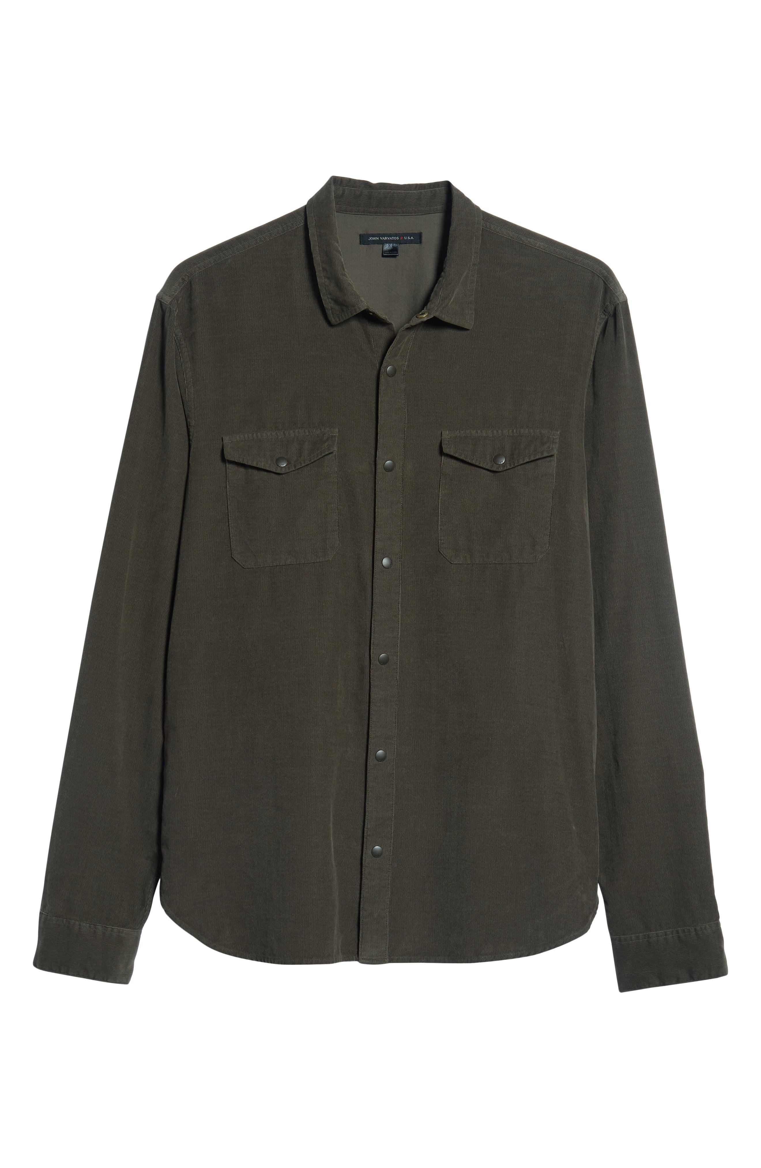 Corduroy Shirt,                             Alternate thumbnail 5, color,                             391