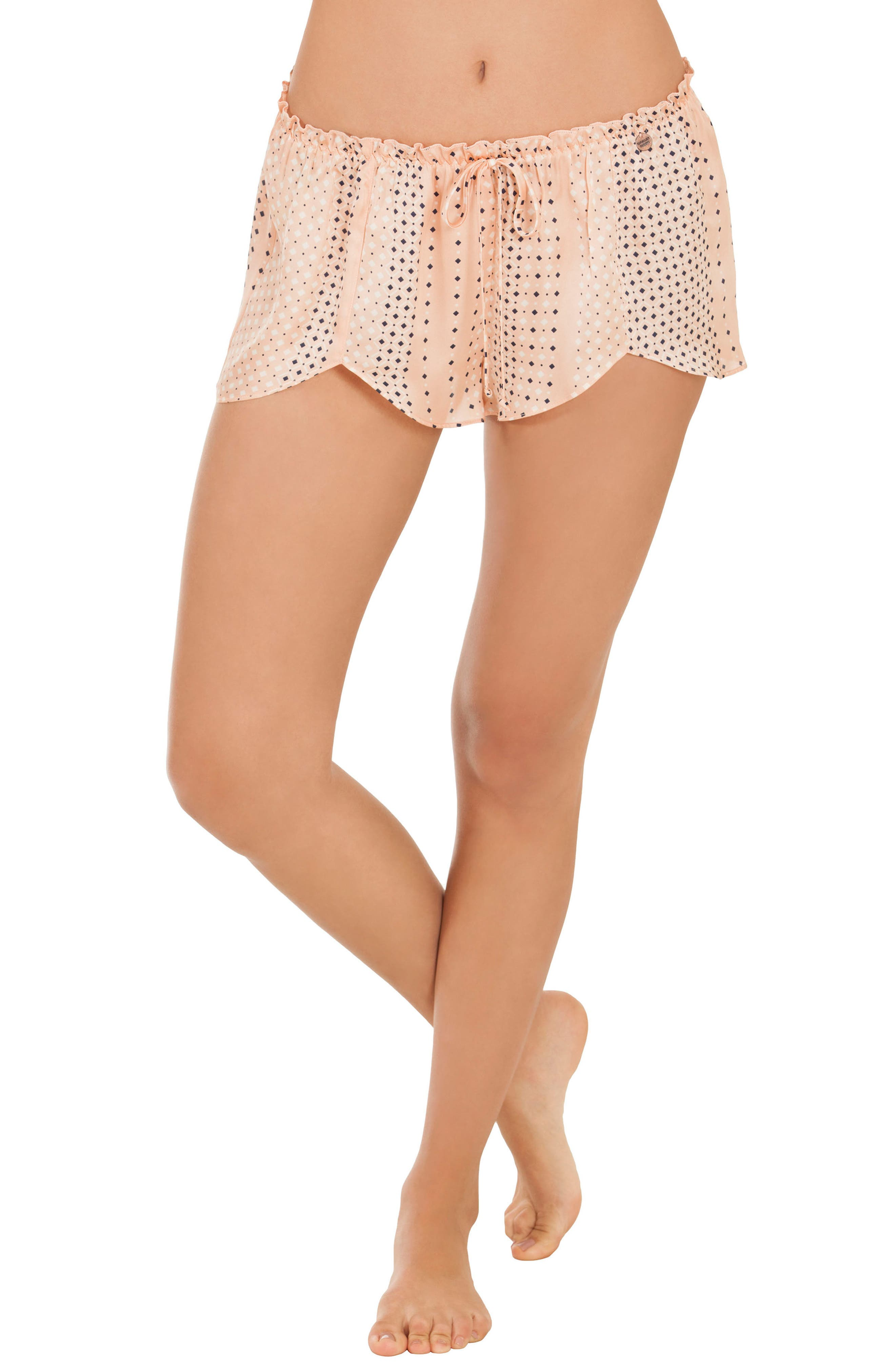 Stripe Pajama Shorts,                         Main,                         color,