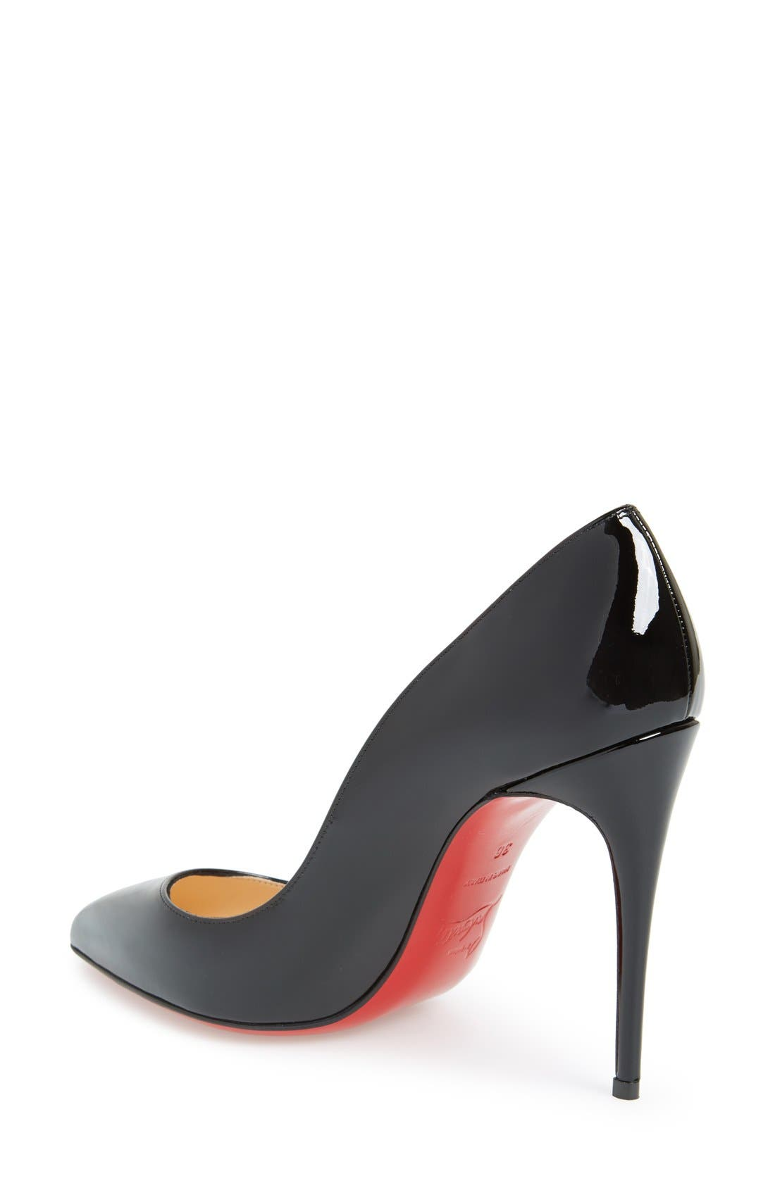 CHRISTIAN LOUBOUTIN,                             Pigalle Follies Pointy Toe Pump,                             Alternate thumbnail 2, color,                             001