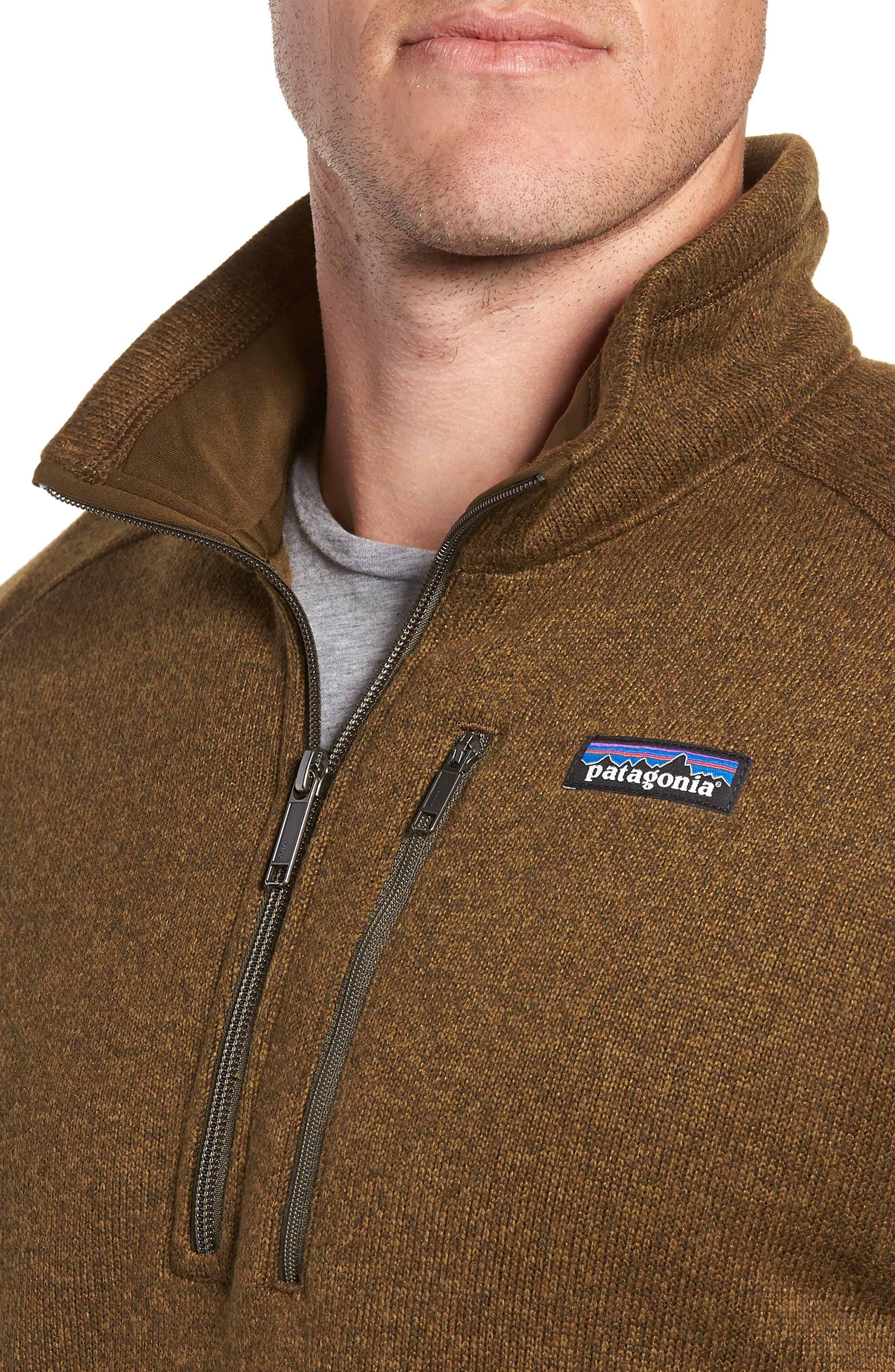 'Better Sweater' Quarter Zip Pullover,                             Alternate thumbnail 4, color,                             SEDIMENT