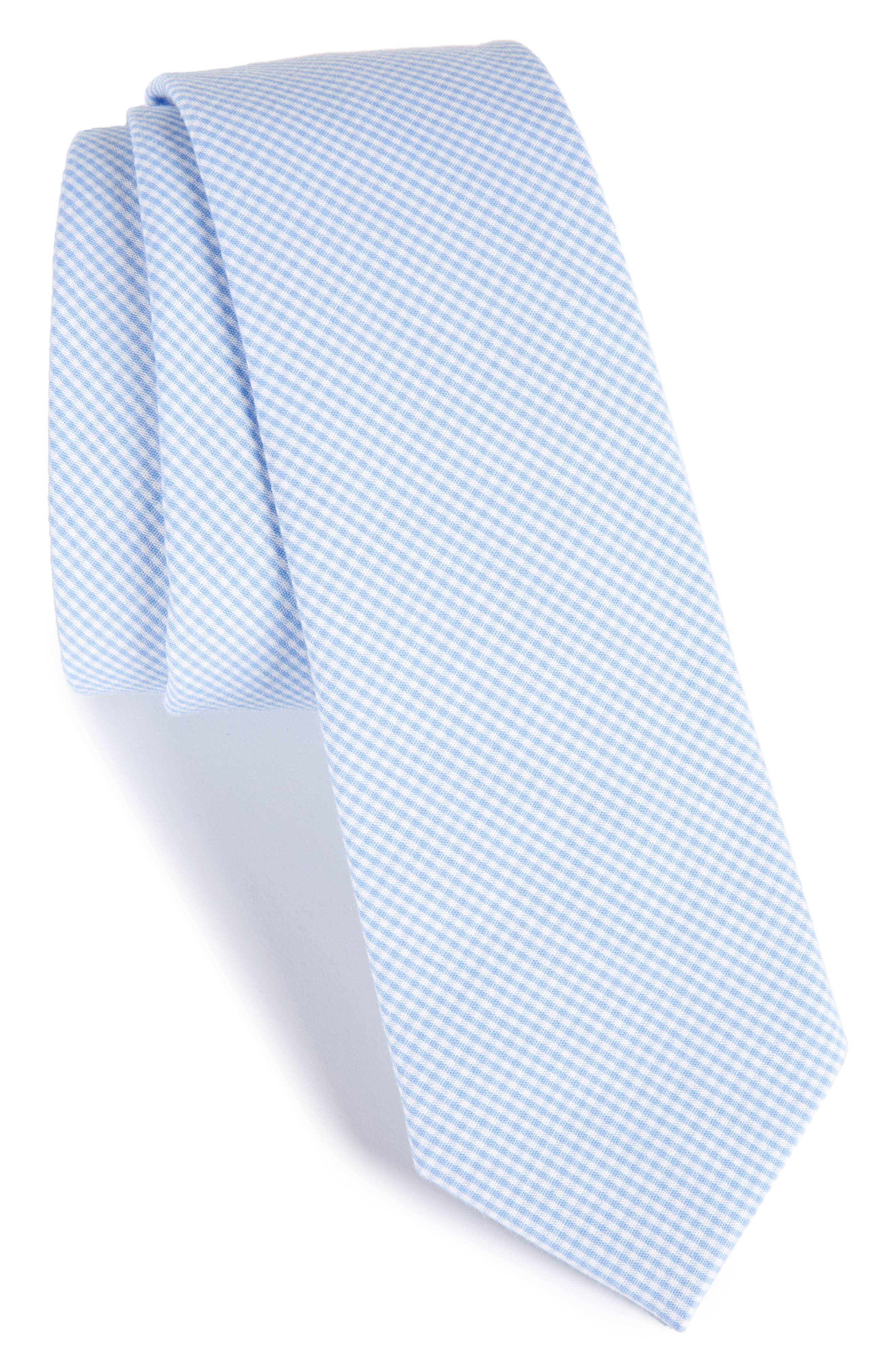 Check Cotton Tie,                             Main thumbnail 7, color,