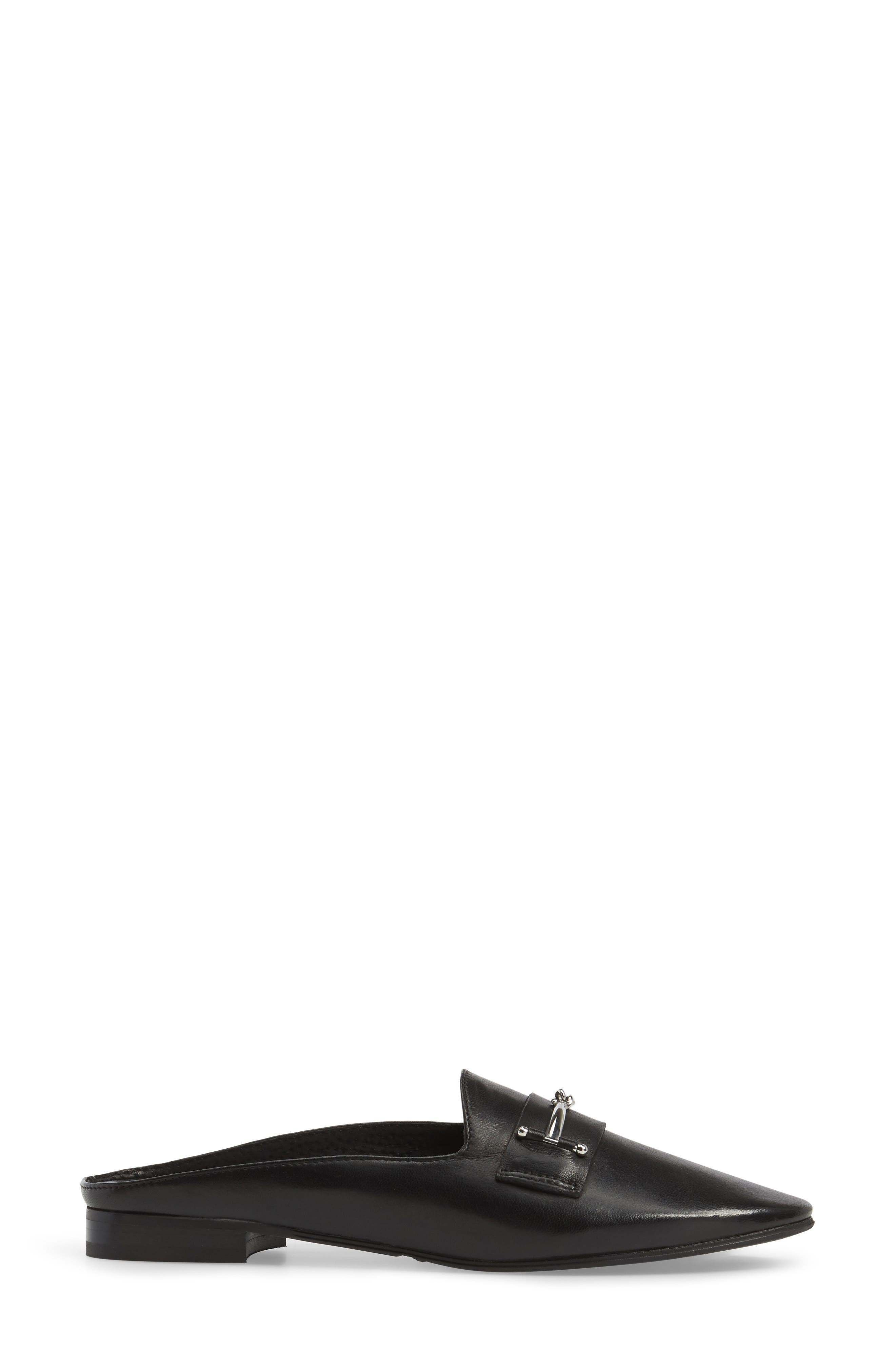 Melody Loafer Mule,                             Alternate thumbnail 3, color,                             001
