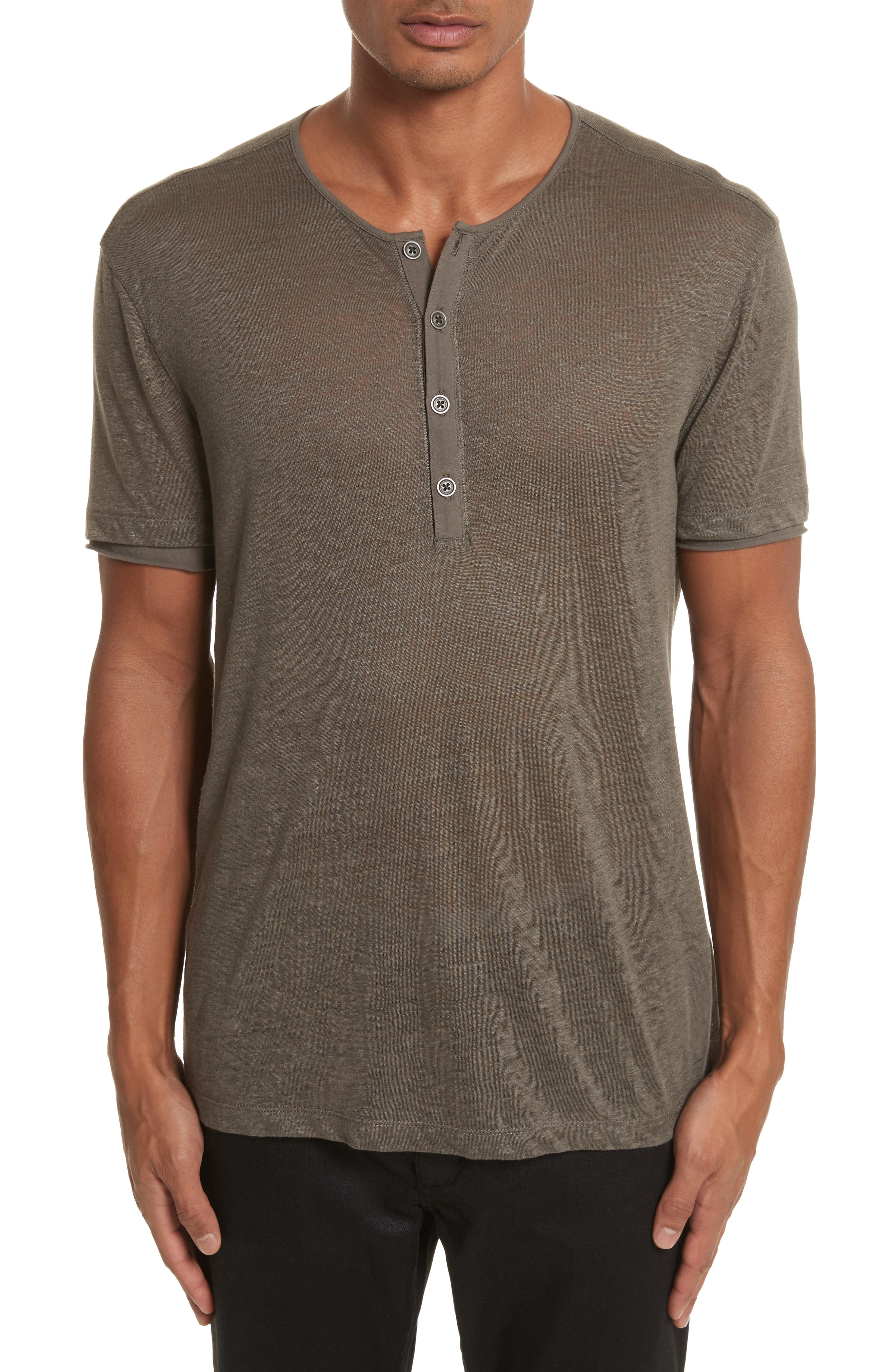 Linen Henley T-Shirt,                             Main thumbnail 1, color,                             336