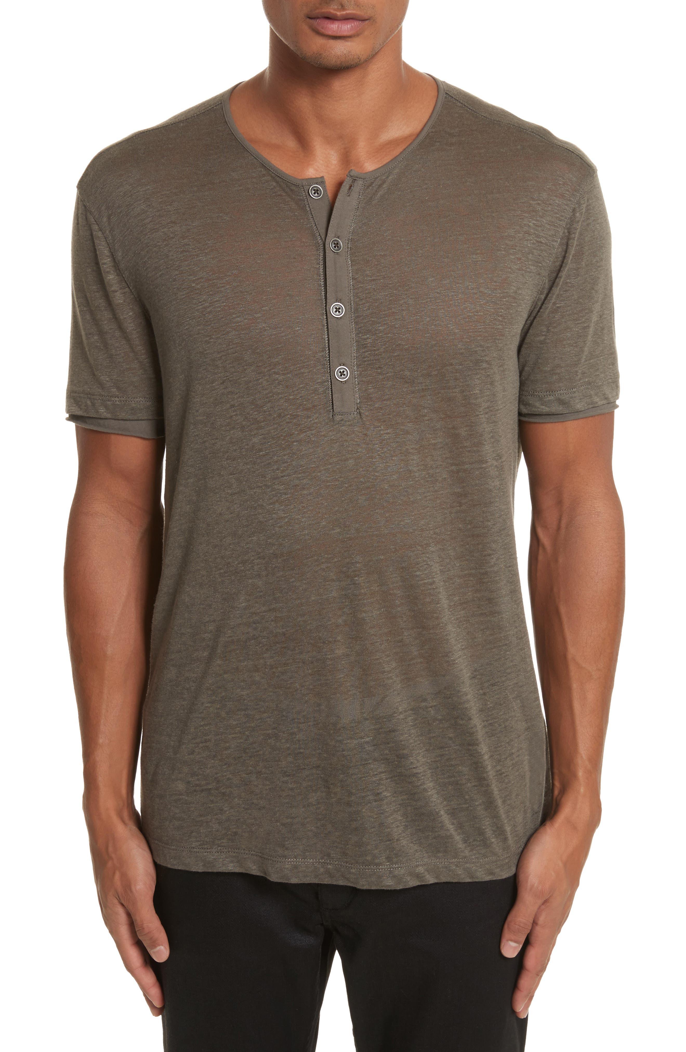 Linen Henley T-Shirt,                         Main,                         color, 336