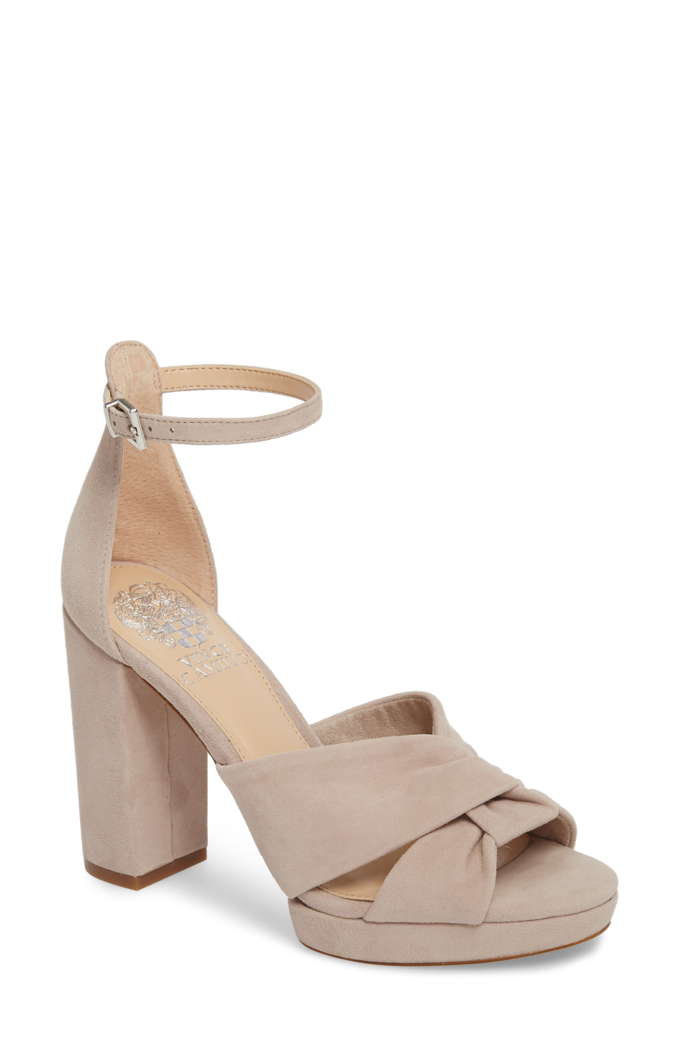 Corlesta Sandal,                         Main,                         color, TIPSY TAUPE SUEDE