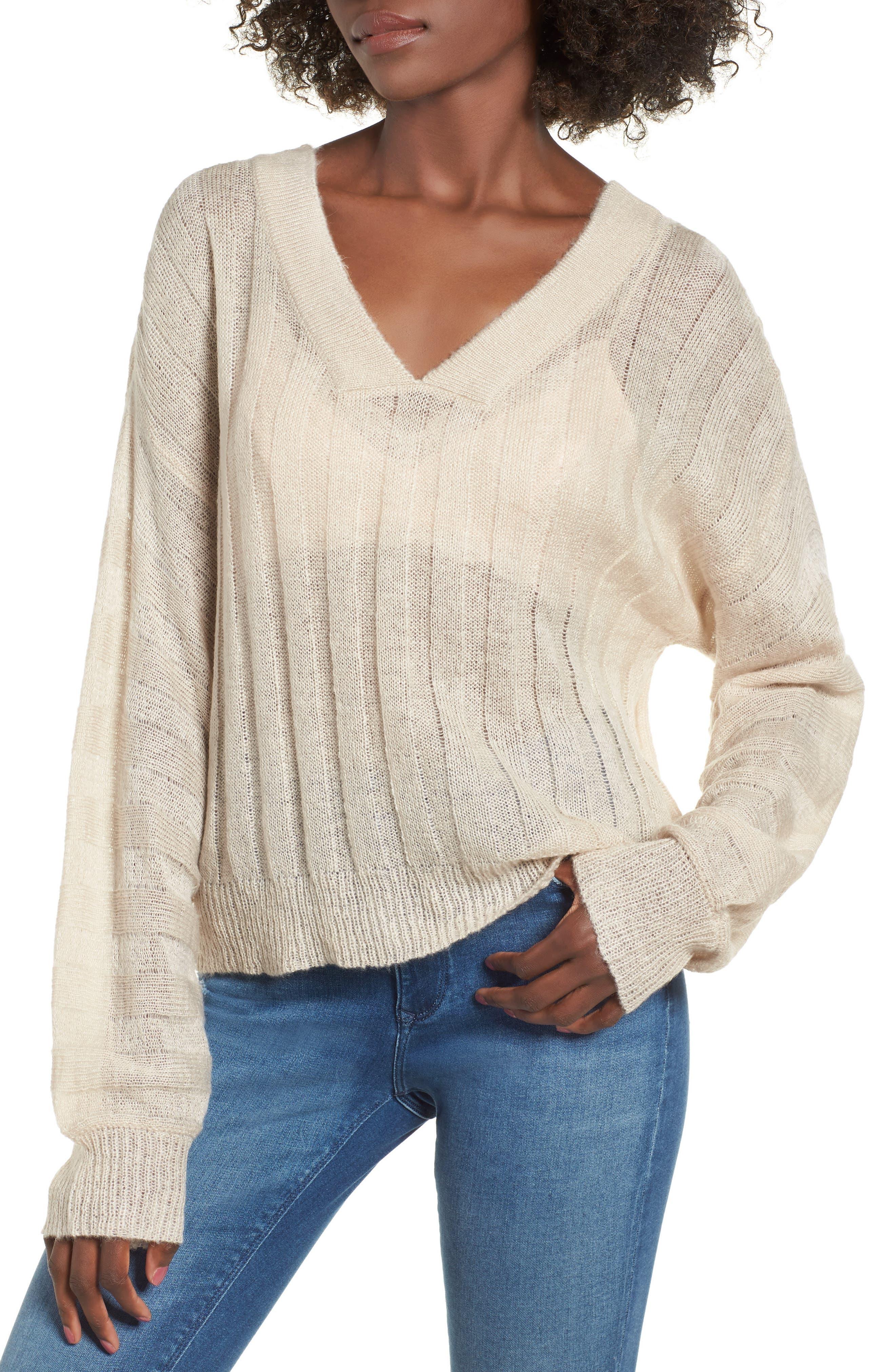 Rib Knit Sweater,                         Main,                         color, 900