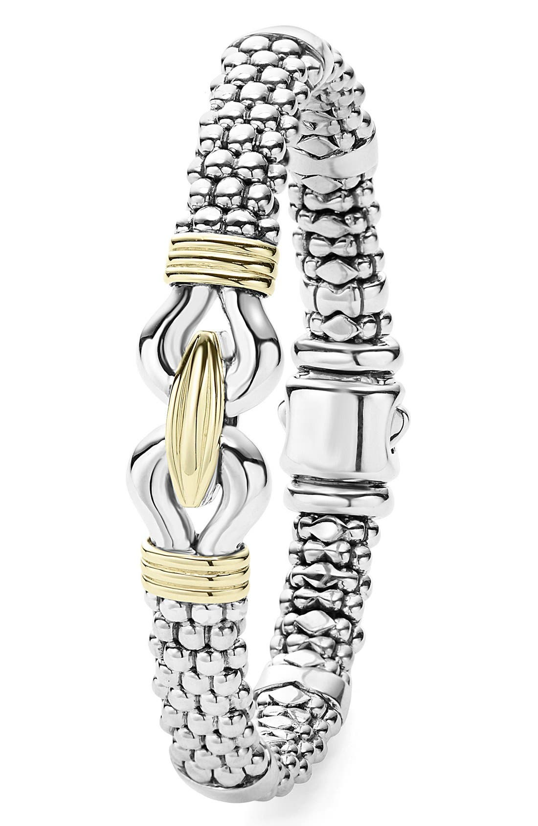 'Derby' Two-Tone Caviar Rope Bracelet,                             Alternate thumbnail 5, color,                             STERLING SILVER - GOLD