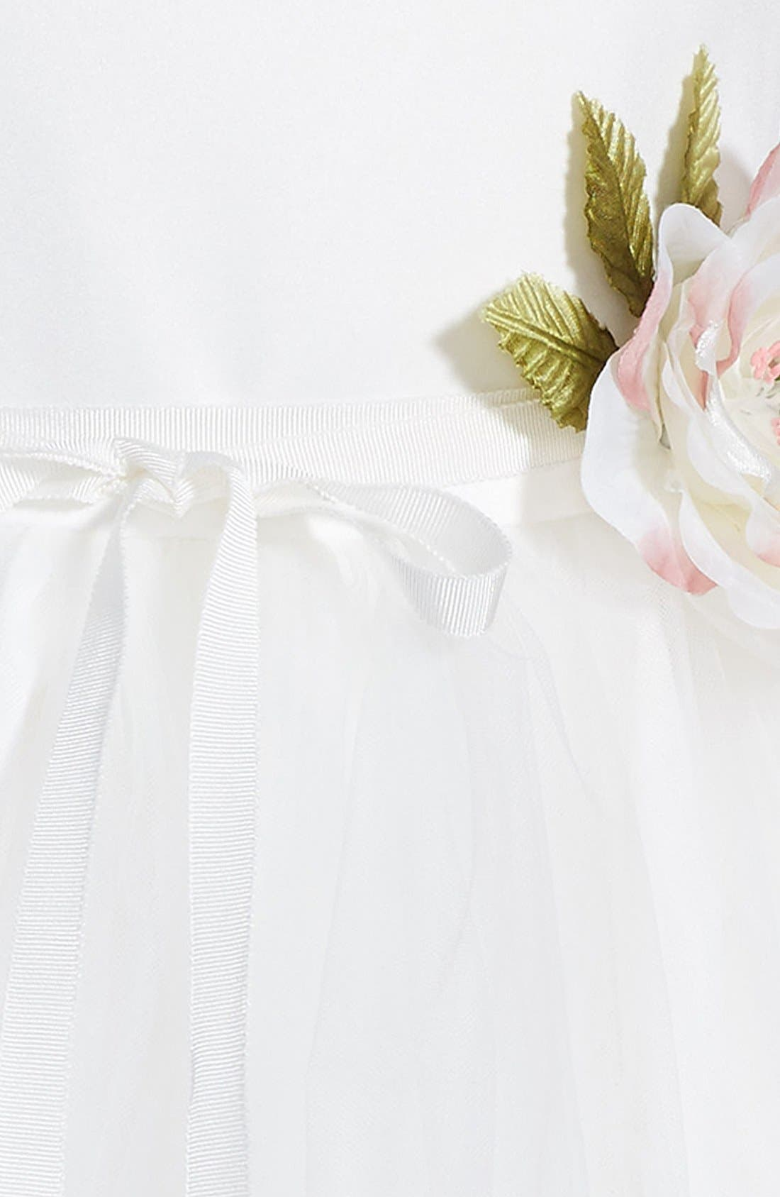 Tulle Ballerina Dress,                             Alternate thumbnail 4, color,                             IVORY