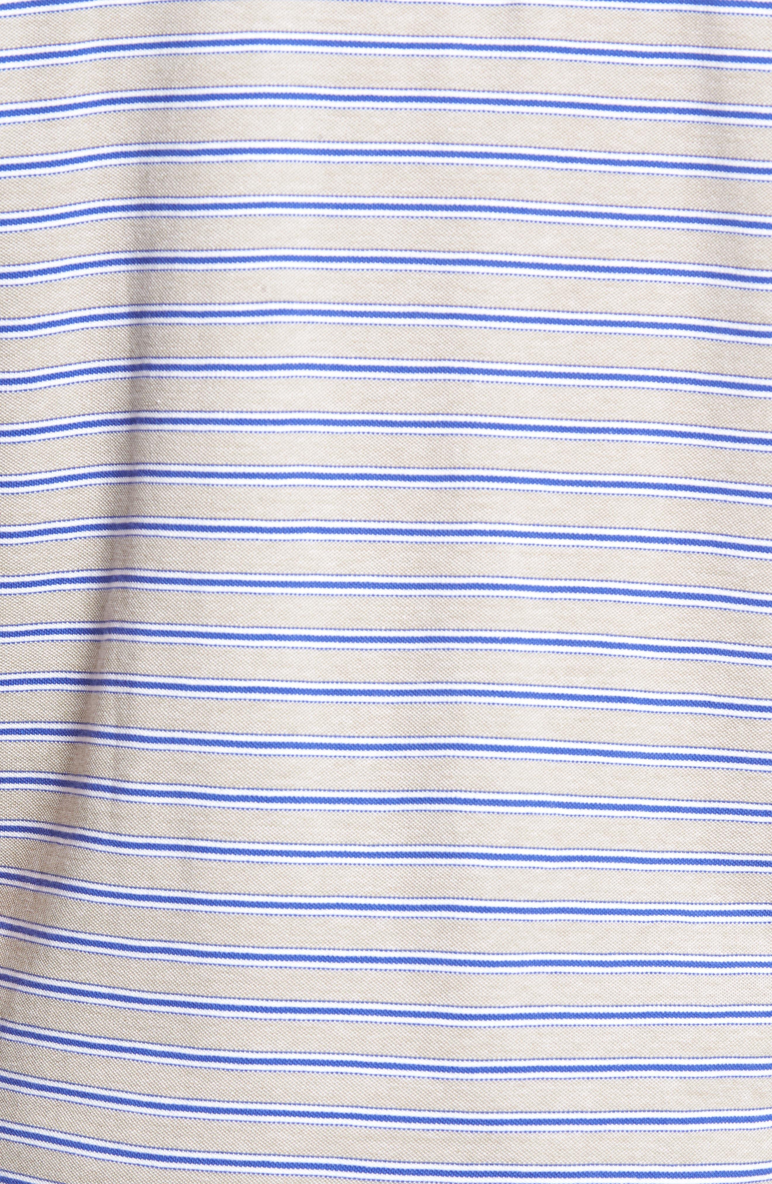 Kempthorne Sports Fit Stripe Piqué Polo,                             Alternate thumbnail 5, color,                             423
