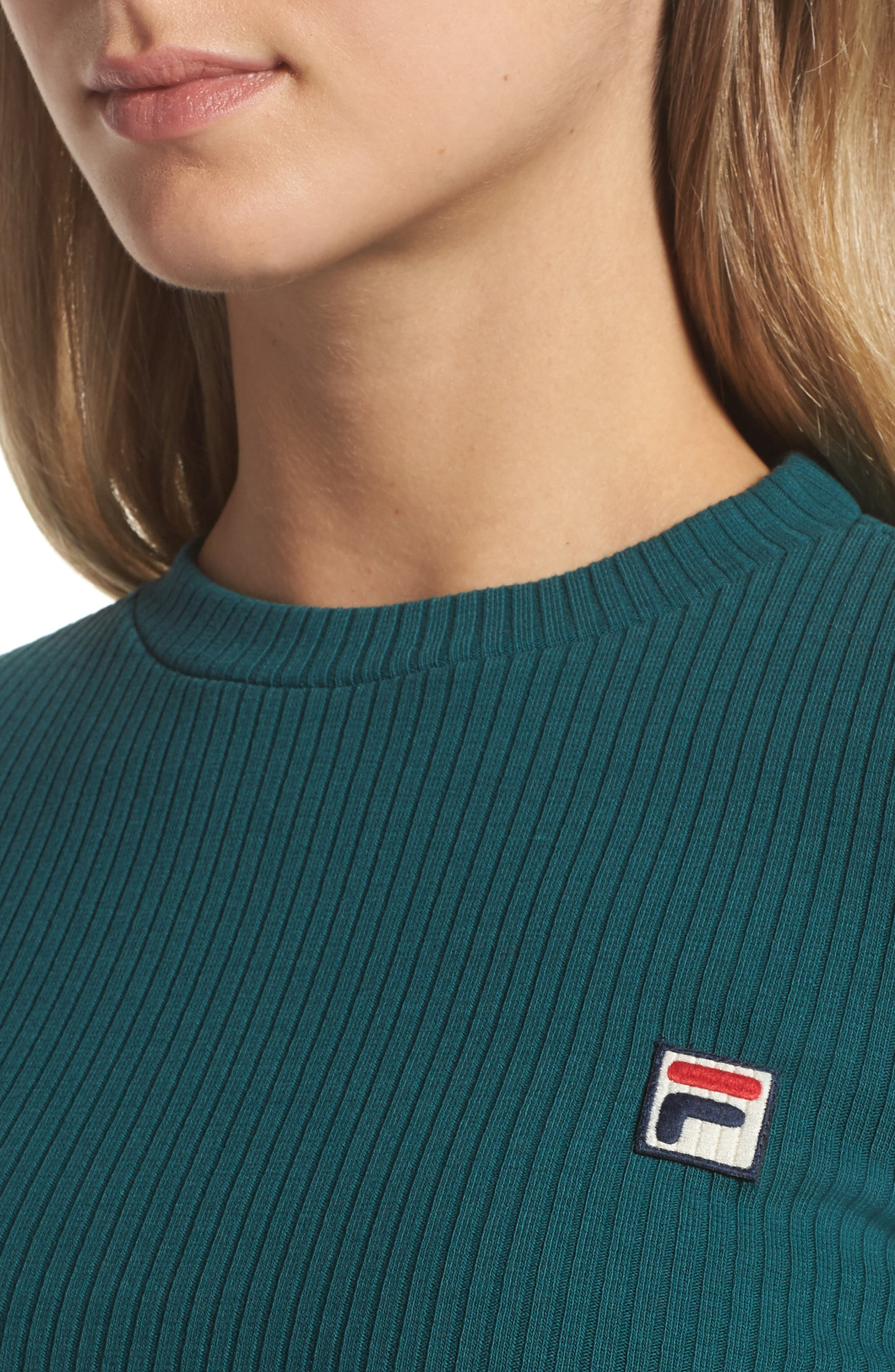 Colleen Long Sleeve Crop Top,                             Alternate thumbnail 4, color,                             440