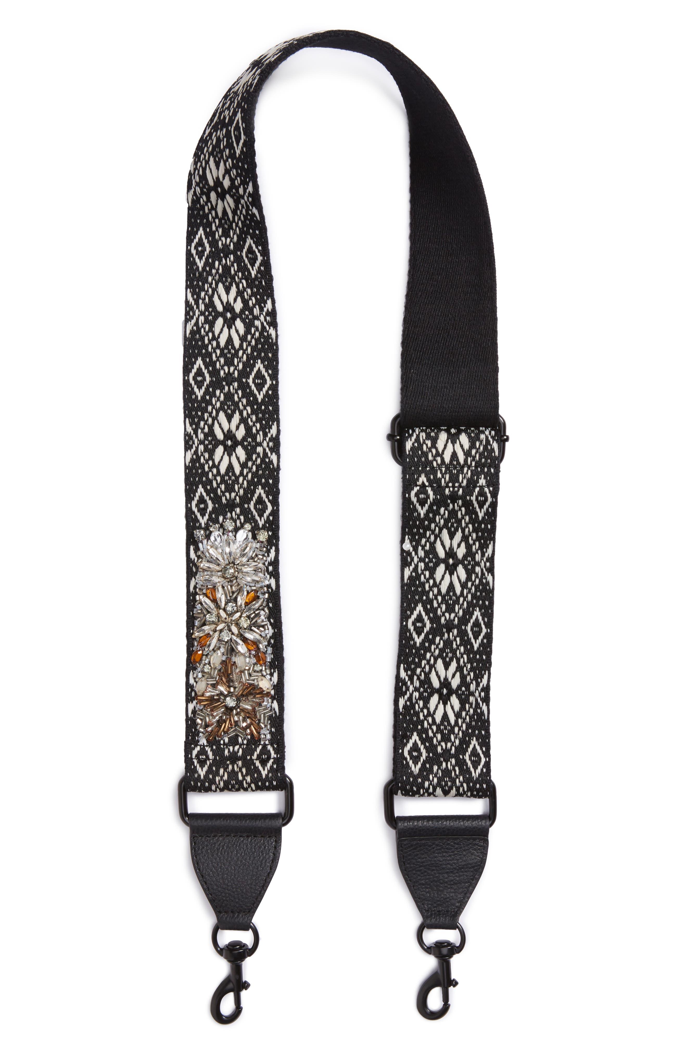 Jeweled Jacquard Guitar Strap,                         Main,                         color, 001