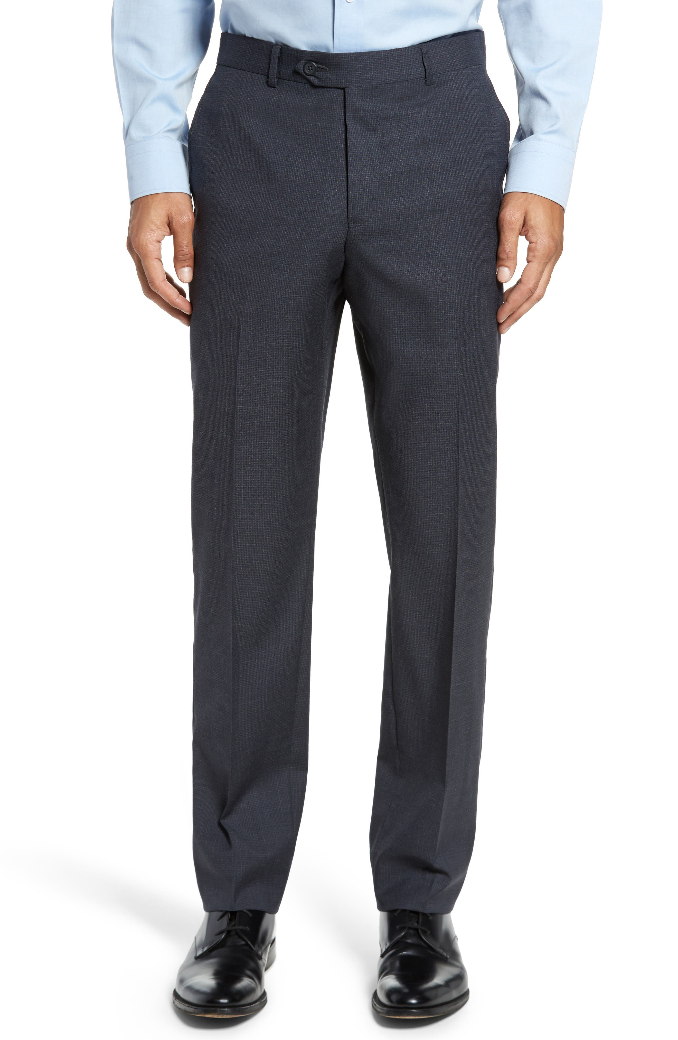 Classic Fit Check Wool Suit,                             Alternate thumbnail 18, color,