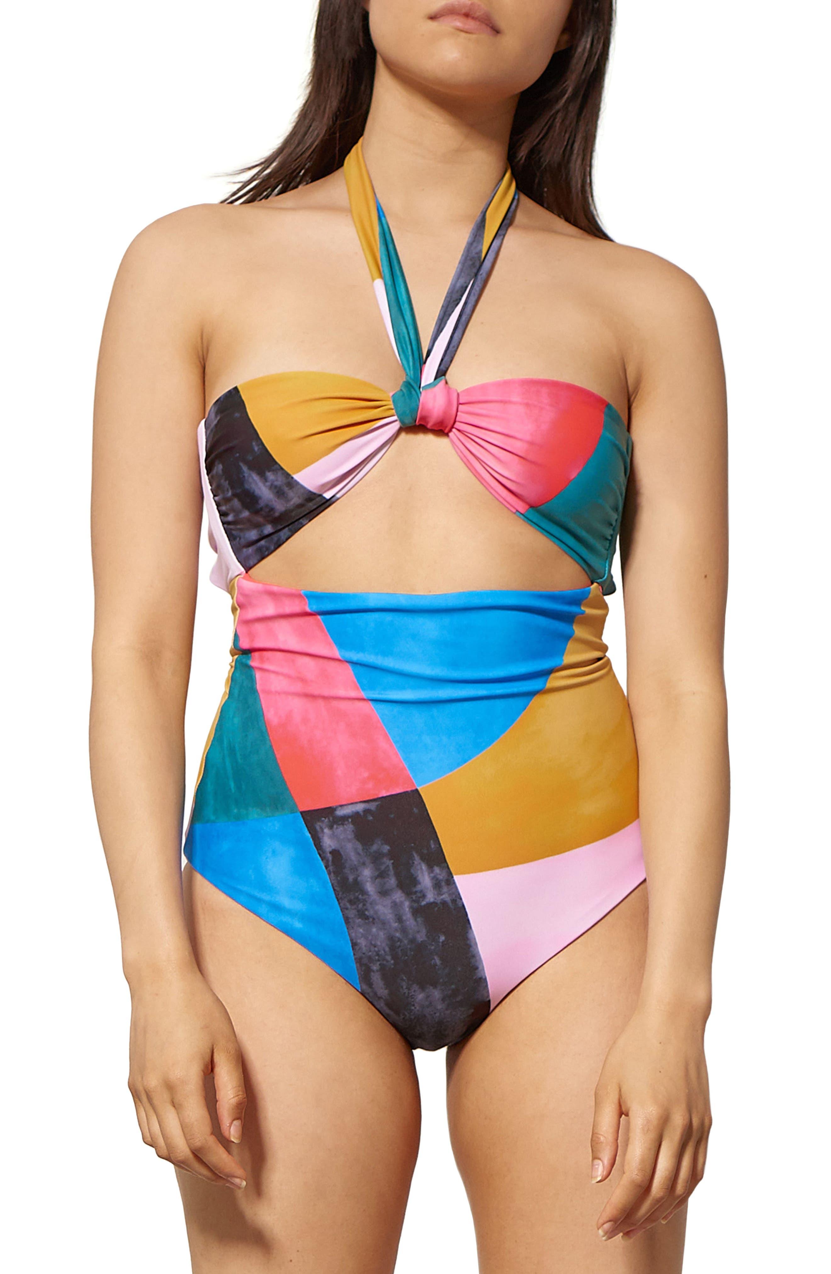 Cleo Cutout One-Piece Swimsuit,                             Main thumbnail 1, color,                             400