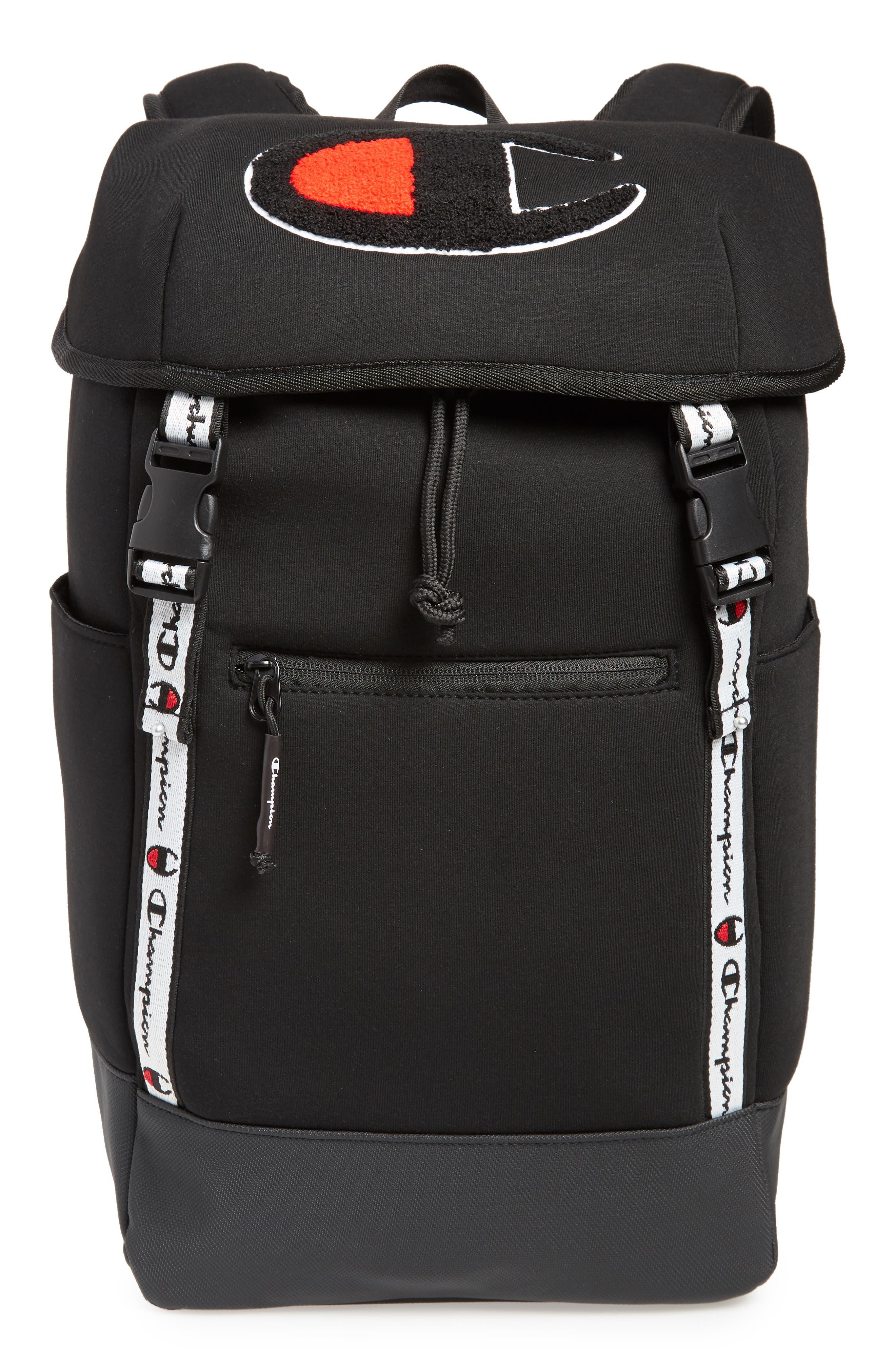 Top Load Backpack,                         Main,                         color, BLACK