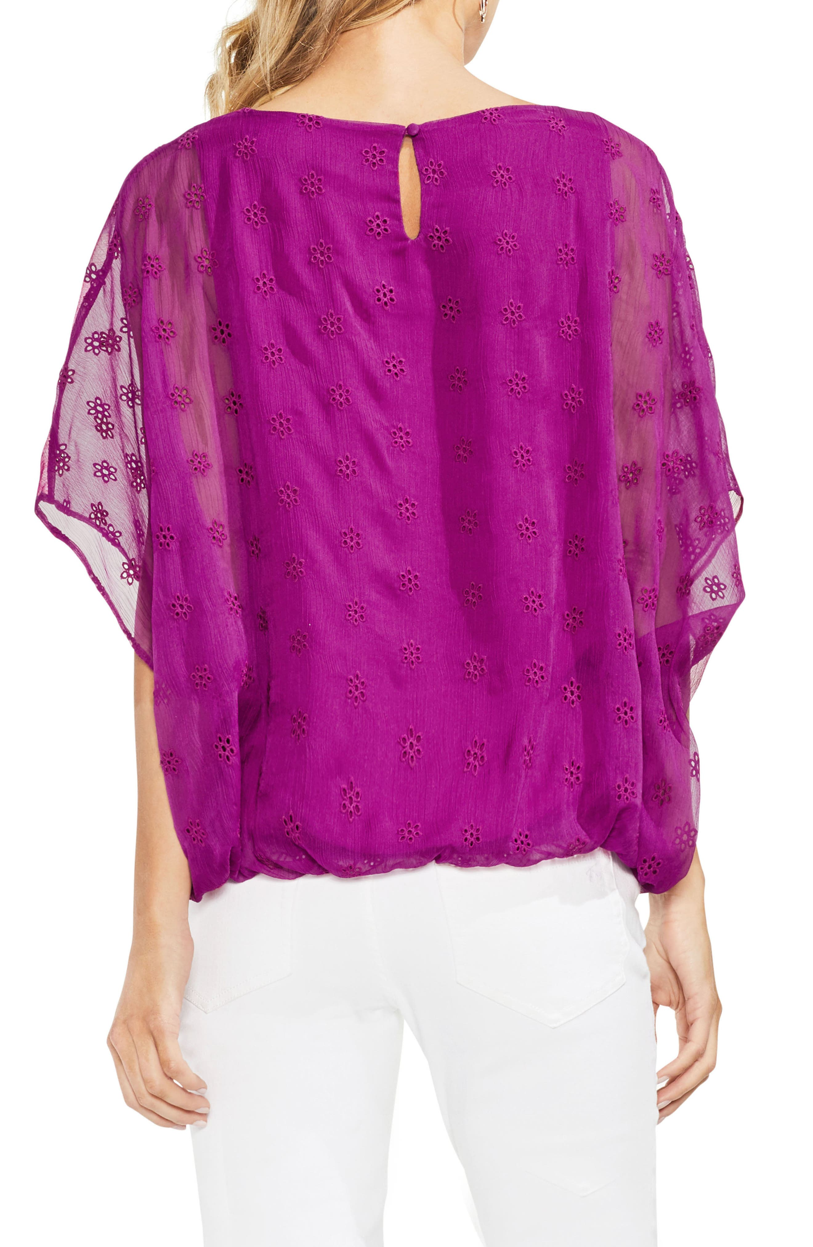 Embroidered Eyelet Blouse,                             Alternate thumbnail 6, color,