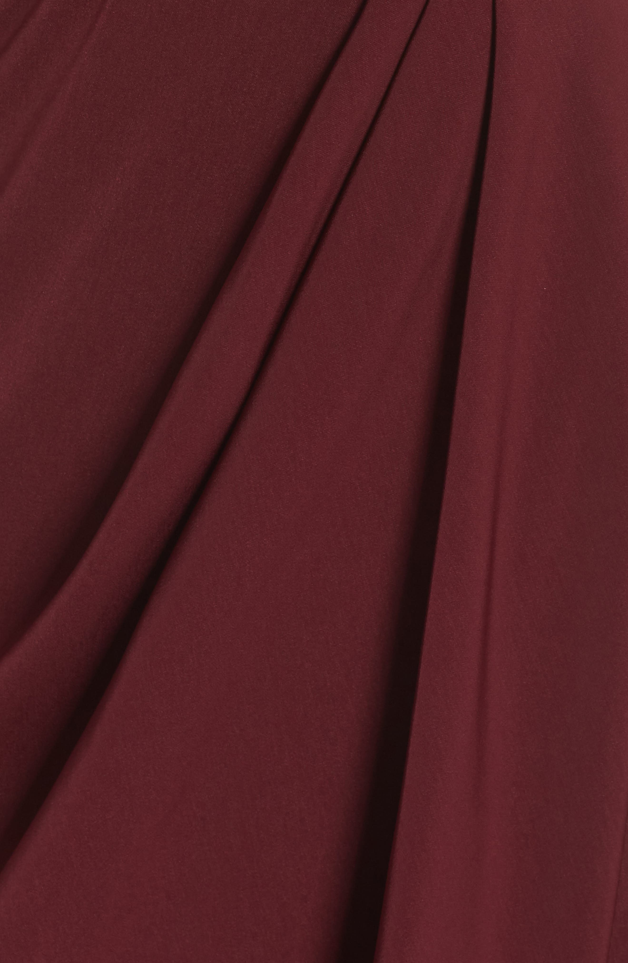 SHONA JOY,                             Tulip Hem Maxi Dress,                             Alternate thumbnail 6, color,                             BURGUNDY