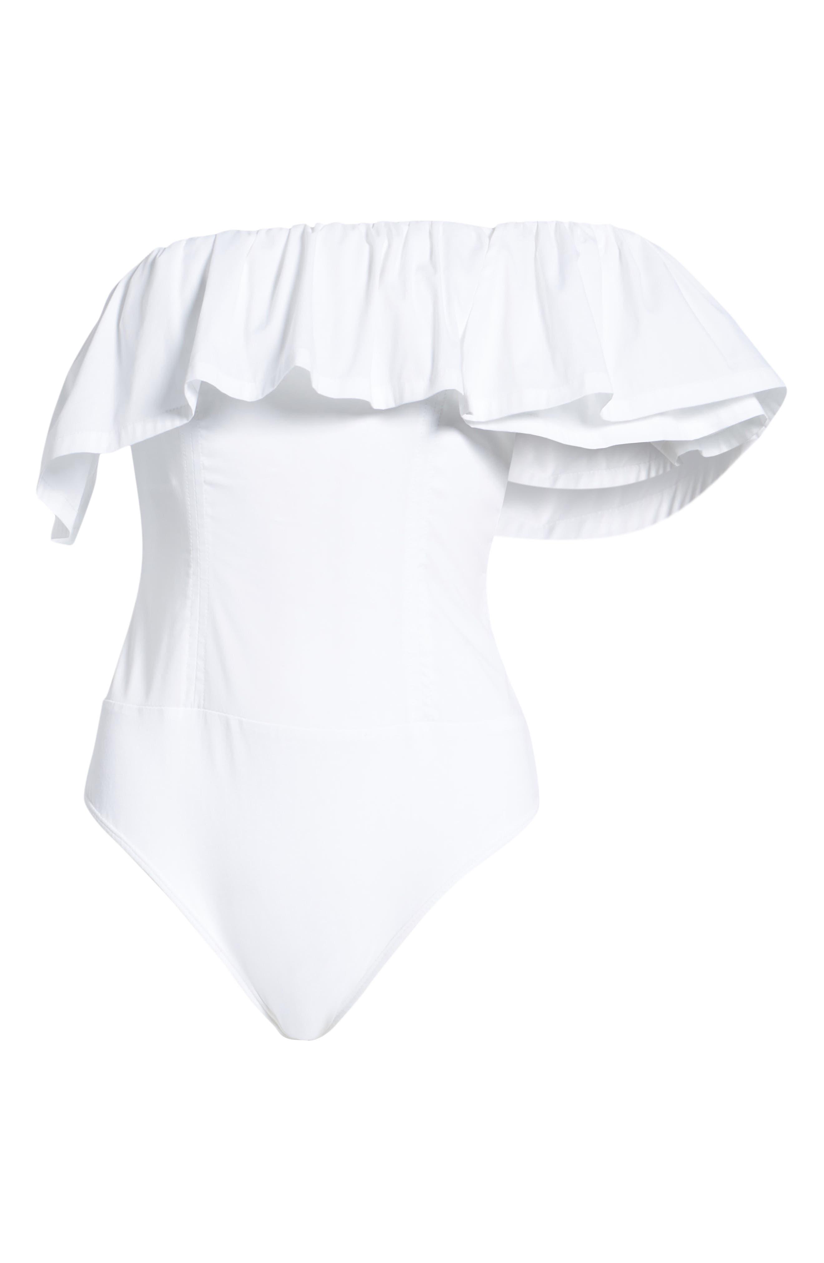 One-Shoulder Bodysuit,                             Alternate thumbnail 12, color,