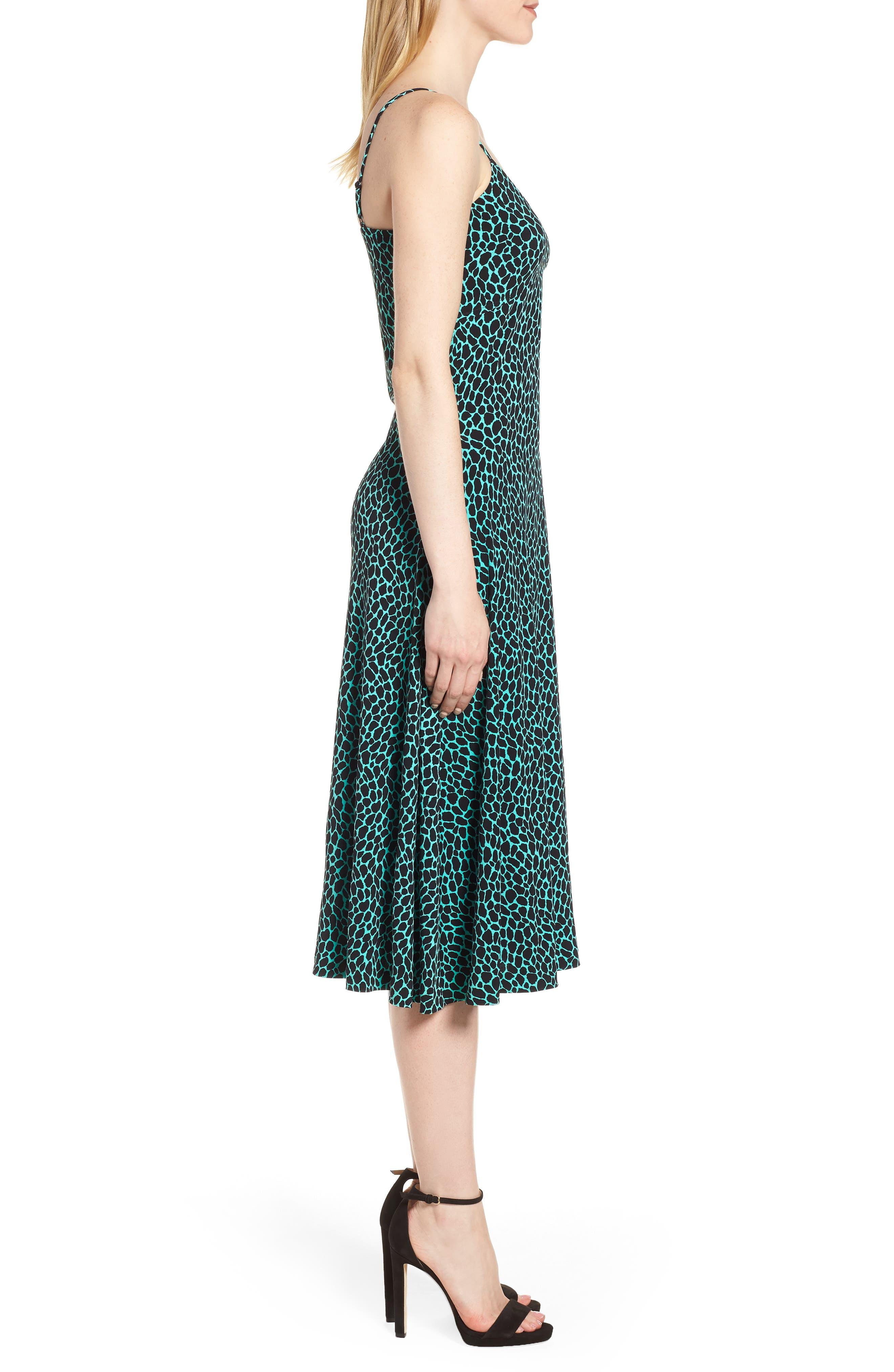 Graphic Leopard Tank Midi Dress,                             Alternate thumbnail 3, color,