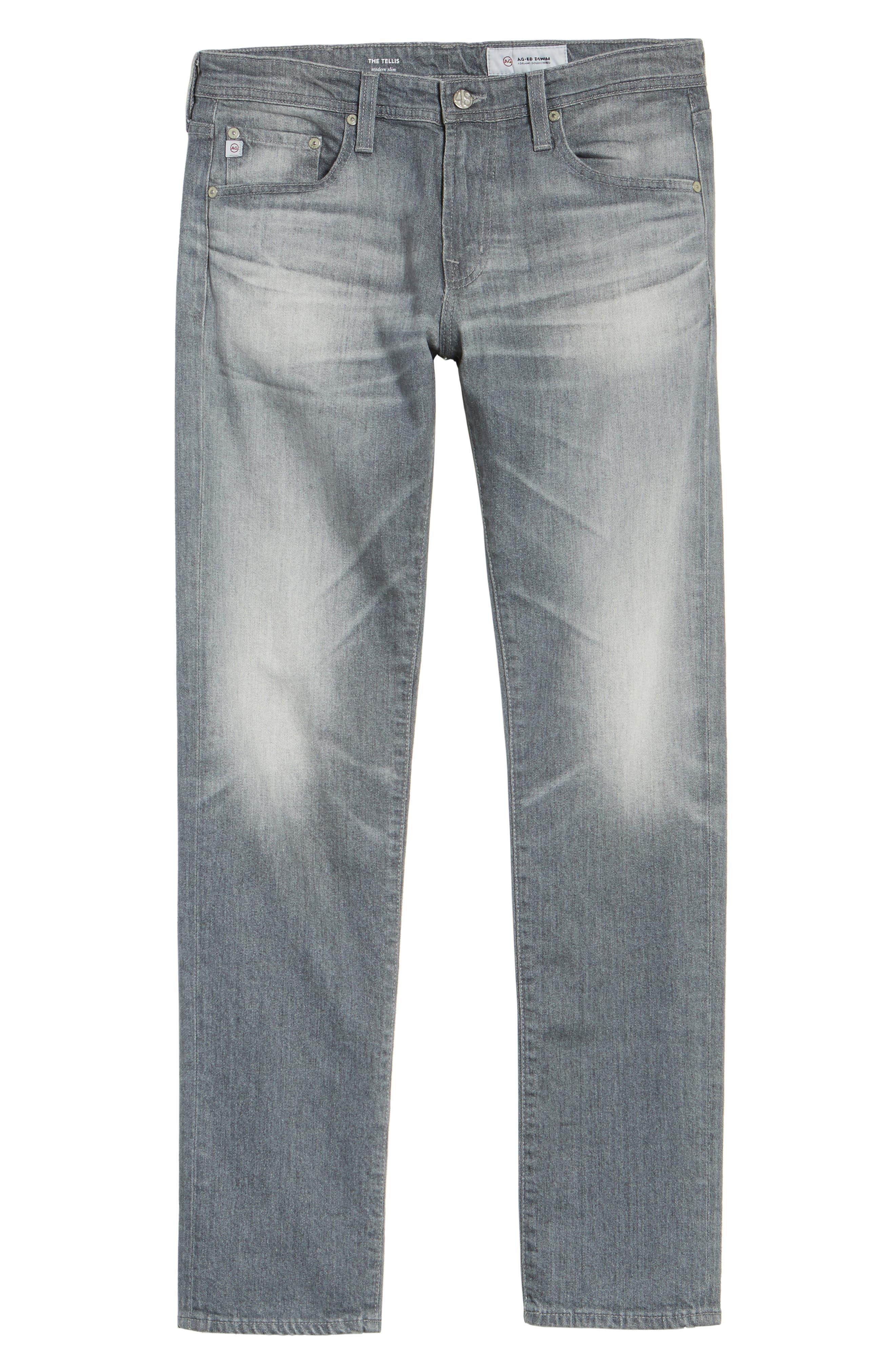 Tellis Modern Slim Fit Jeans,                             Alternate thumbnail 6, color,                             020