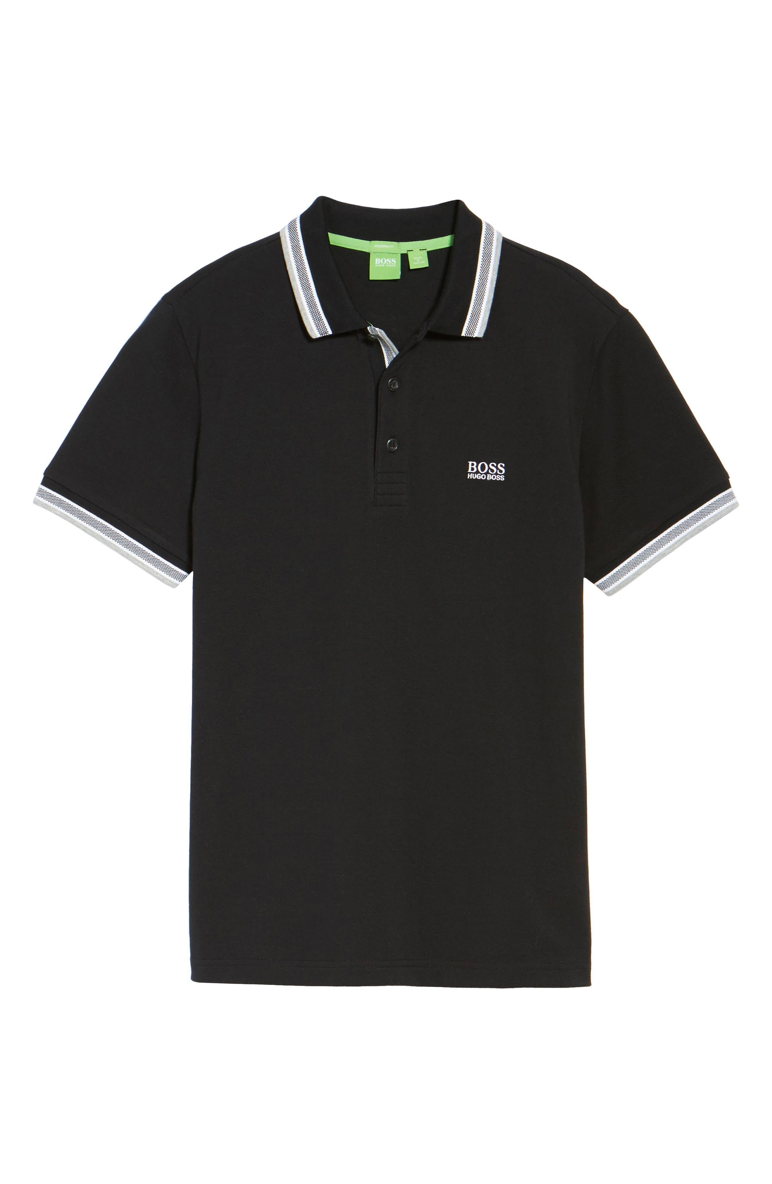'Basic' Piqué Golf Polo,                             Alternate thumbnail 6, color,                             001