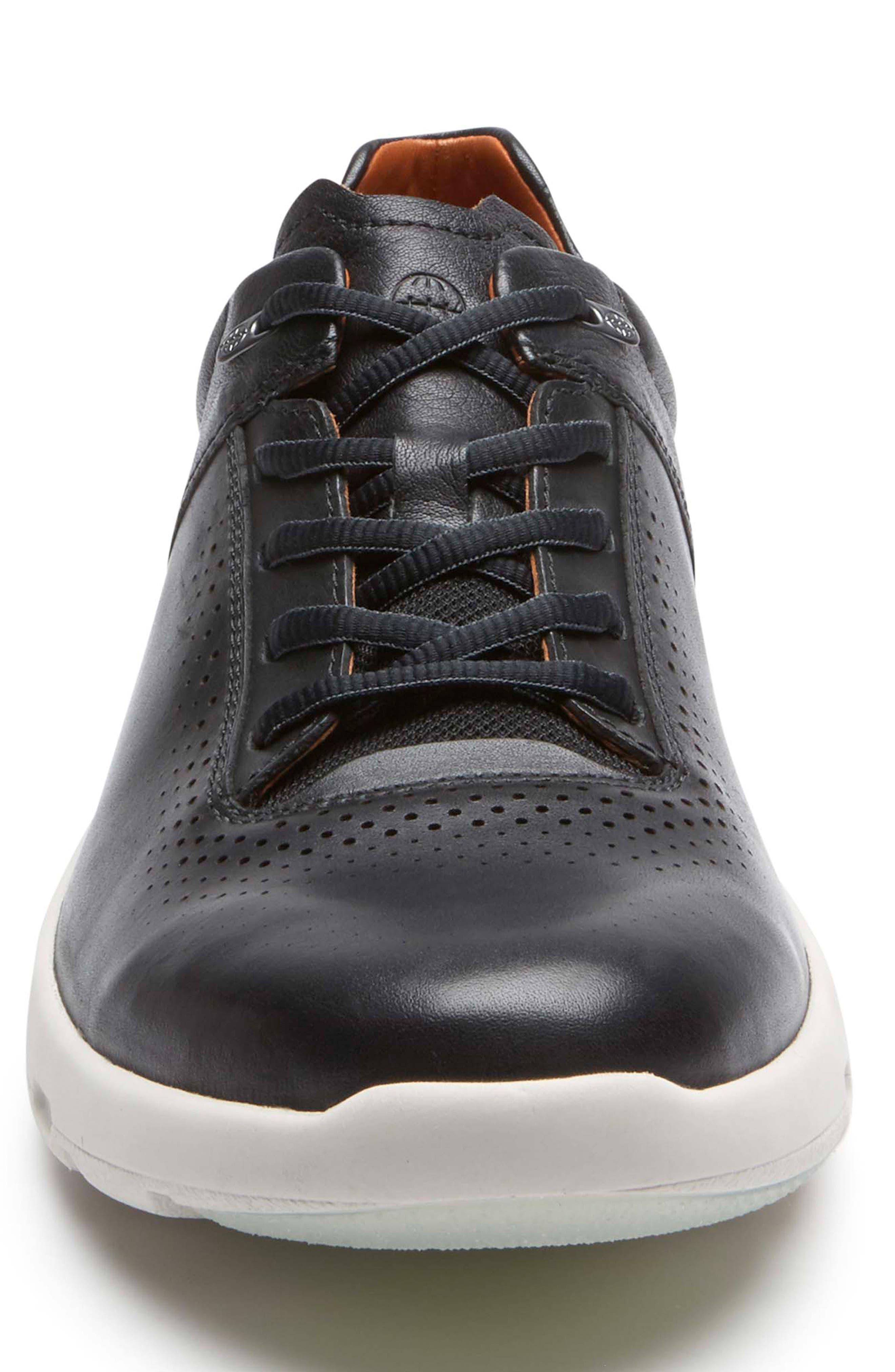 Let's Walk<sup>®</sup> Sneaker,                             Alternate thumbnail 4, color,                             BLACK LEATHER