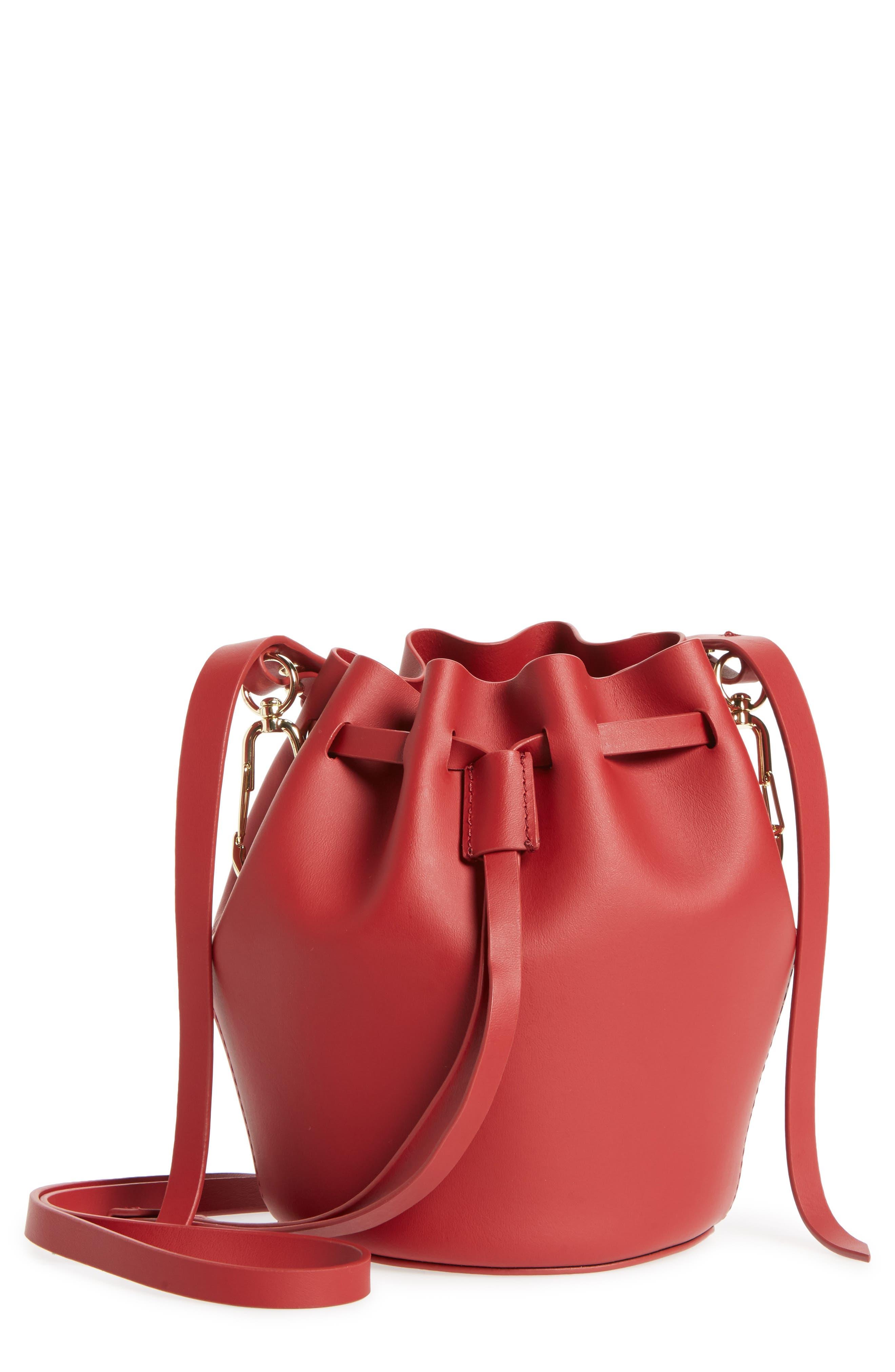 Mini Belay Calfskin Leather Drawstring Bag,                             Main thumbnail 3, color,