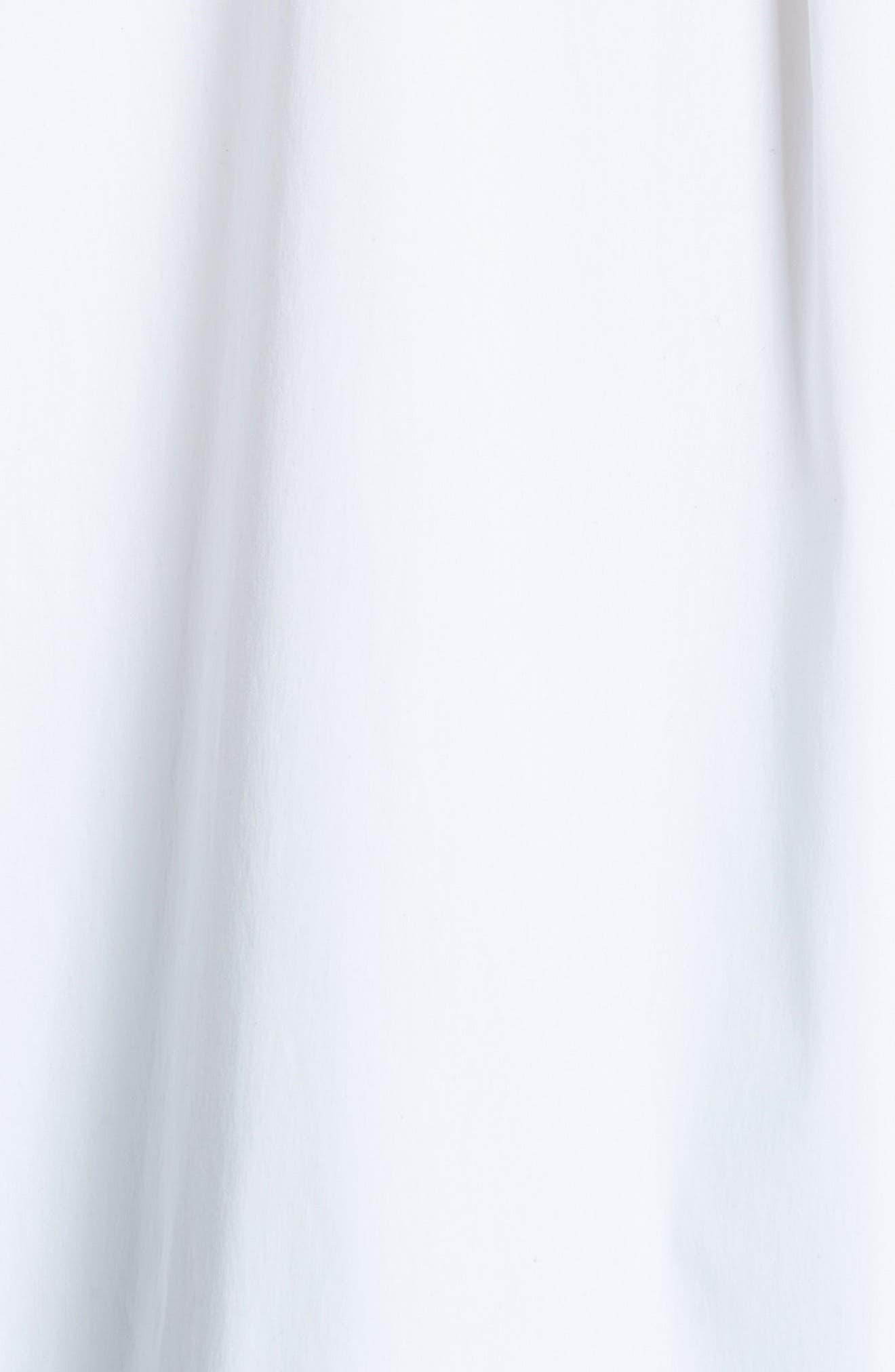 Jessie Crystal & Chain Trim Blouse,                             Alternate thumbnail 5, color,                             WHITE