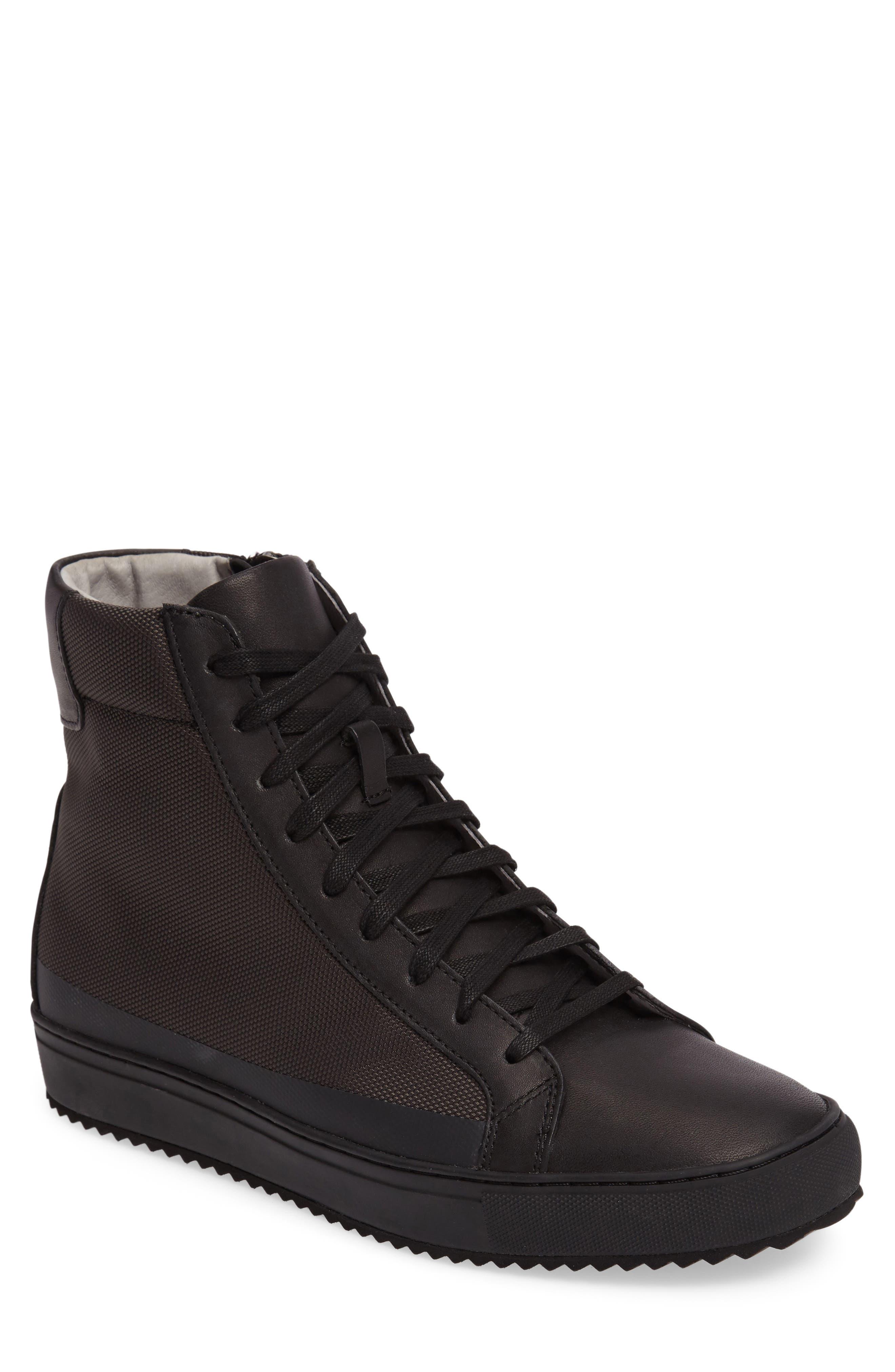 Logan Water Resistant High Top Sneaker,                             Alternate thumbnail 6, color,