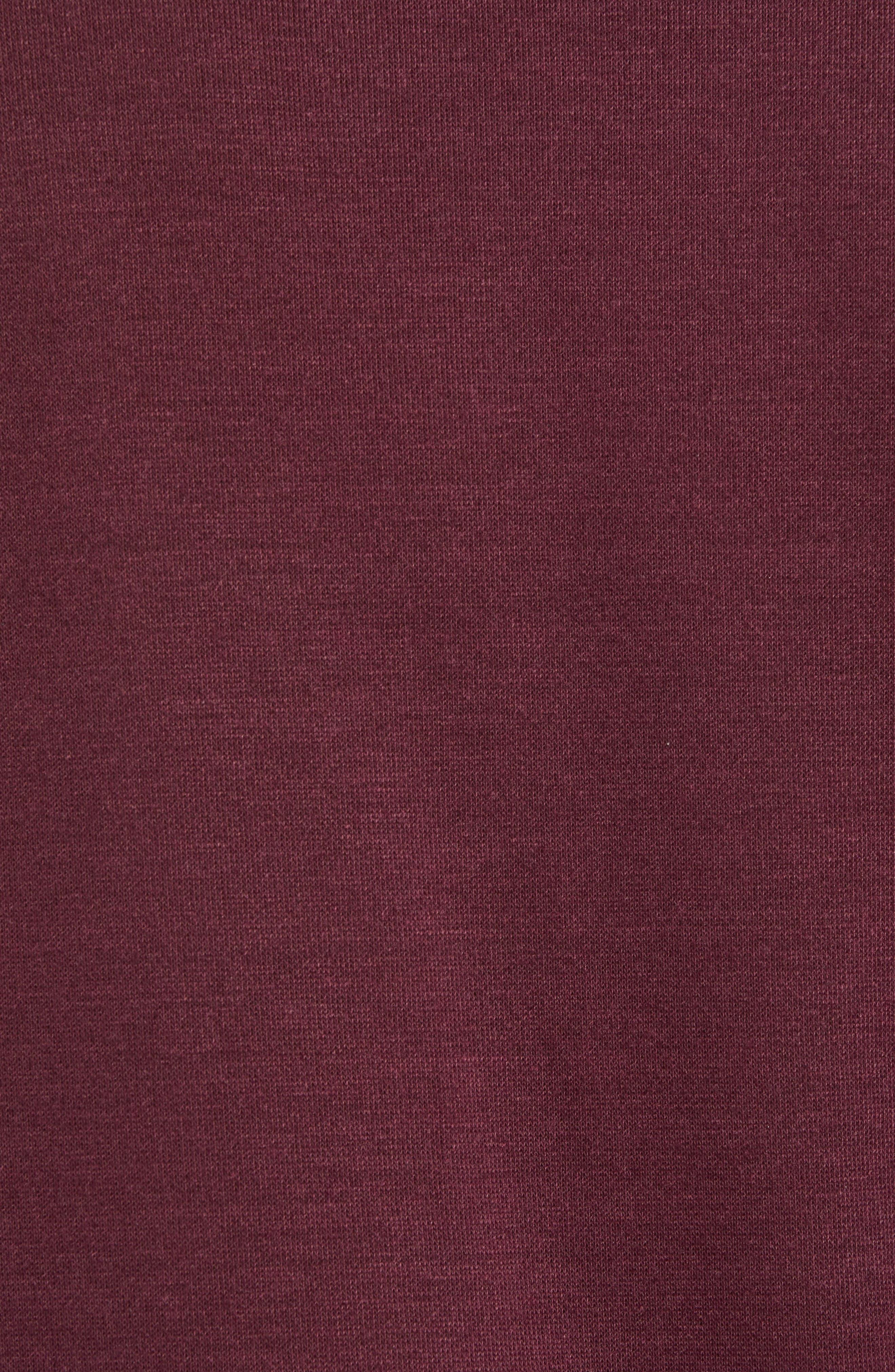 Pomerelle V-Neck Performance Sweater,                             Alternate thumbnail 5, color,                             MERLOT