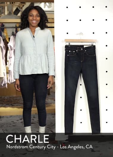 rag & bone DENIM High Waist Skinny Jeans, sales video thumbnail