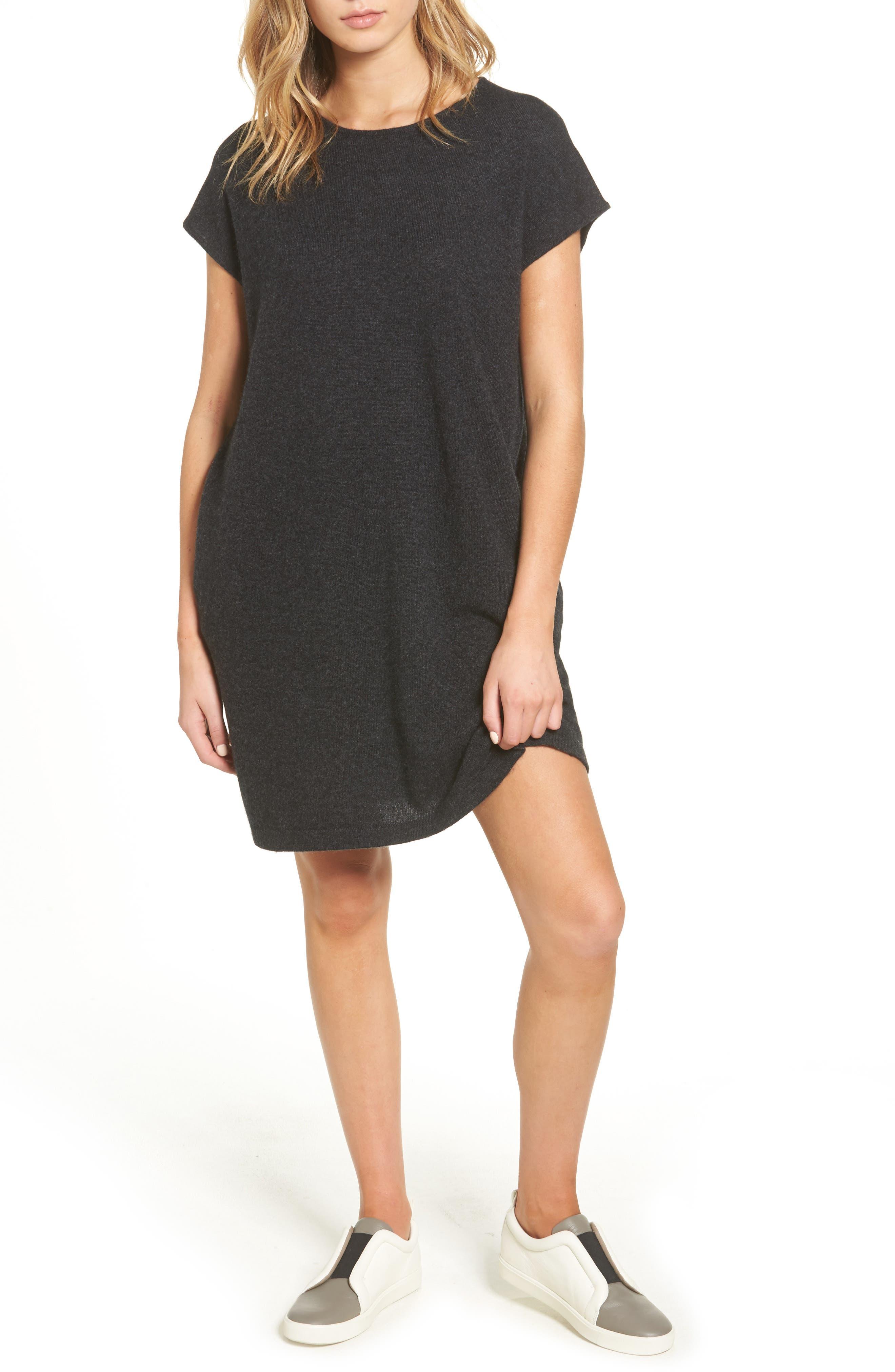 Cashmere Tunic Sweater Dress,                             Main thumbnail 1, color,