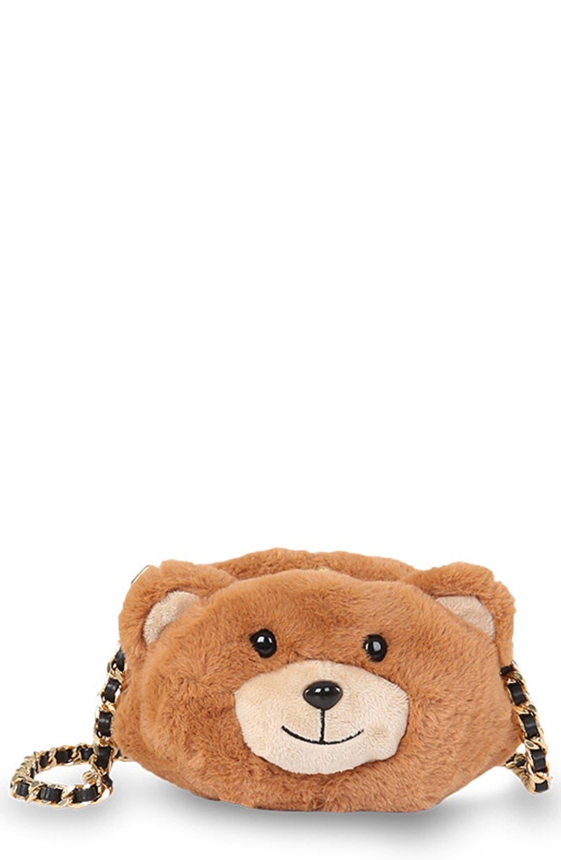 Teddy Bear Crossbody Bag, Main, color, 200