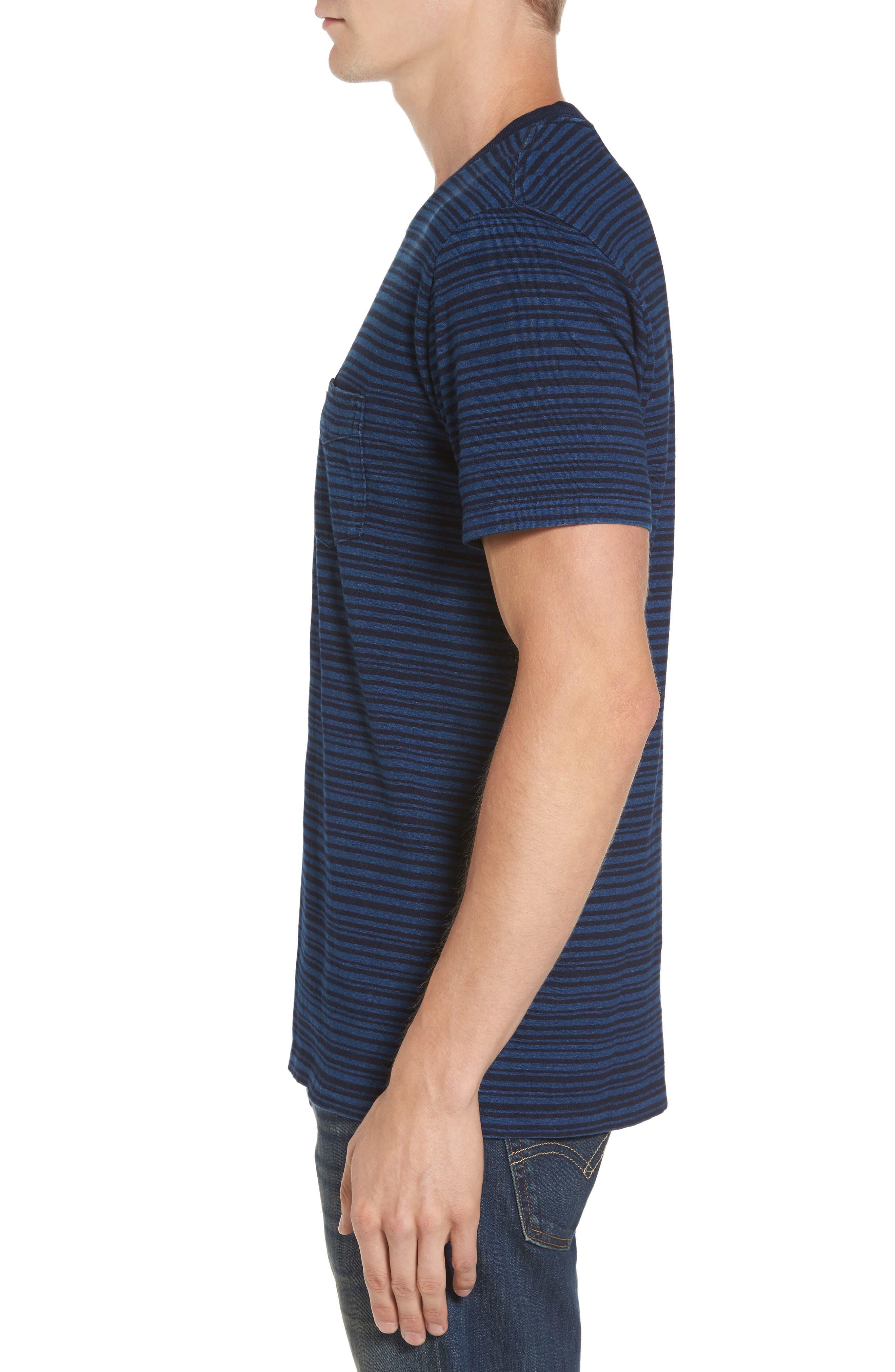 Stripe Pocket T-Shirt,                             Alternate thumbnail 3, color,                             400