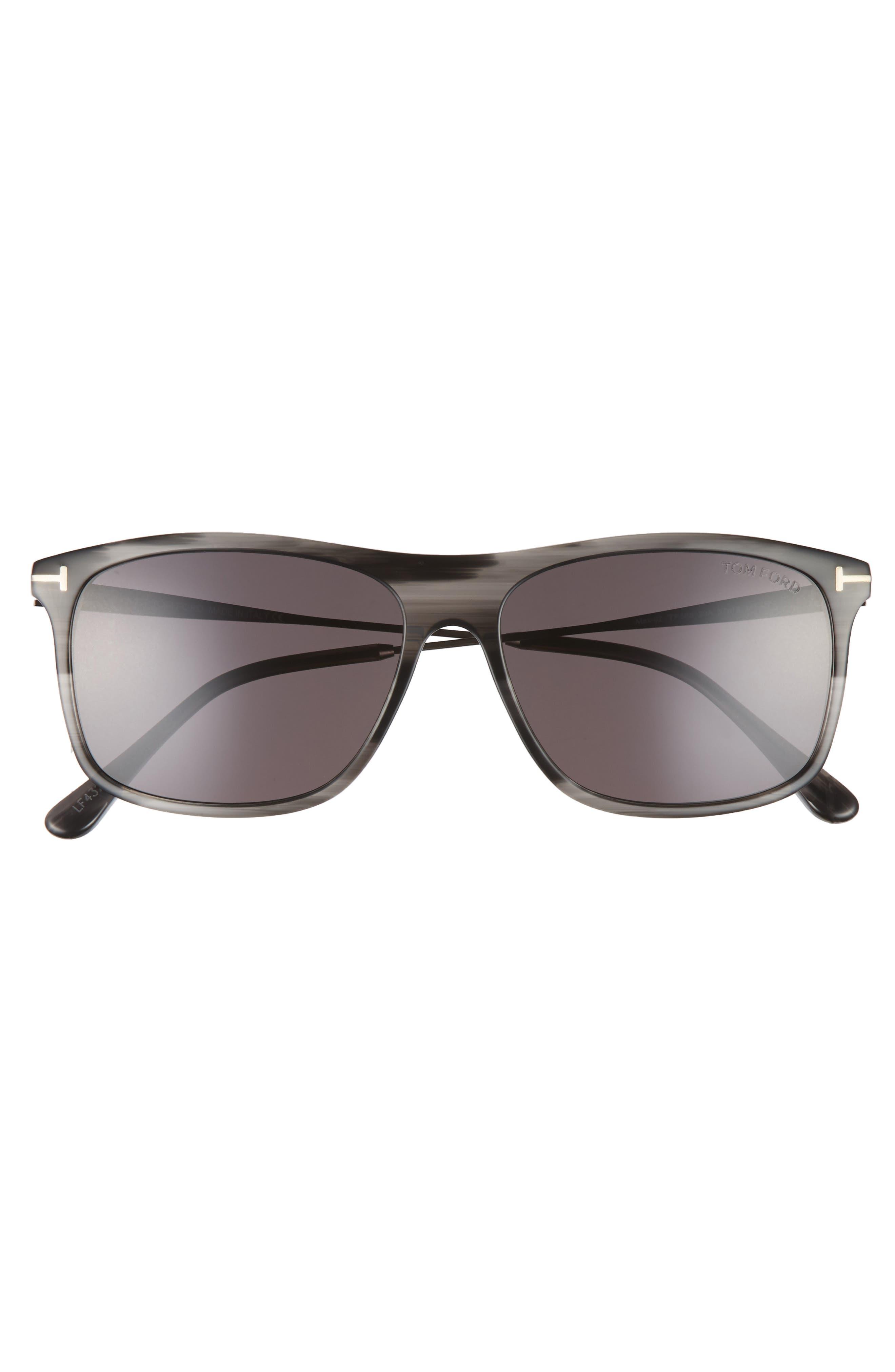 Max 57mm Sunglasses,                             Alternate thumbnail 2, color,                             GREY/ BLACK/ RUTHENIUM/ SMOKE