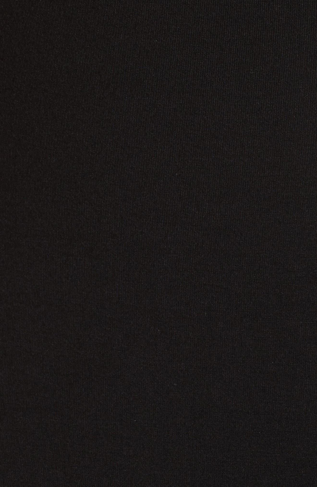 Asymmetrical Cutout Stretch Jersey Top,                             Alternate thumbnail 5, color,                             001