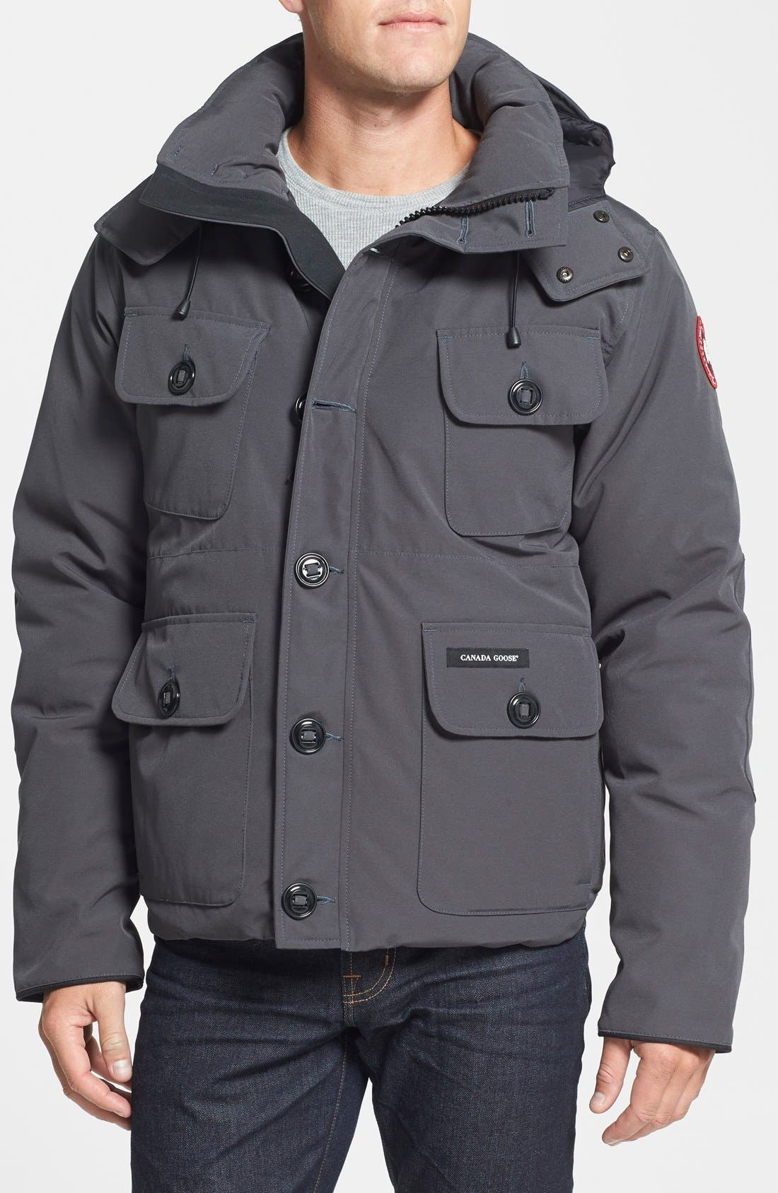 'Selkirk' Slim Fit Water Resistant Down Parka with Detachable Hood,                         Main,                         color,
