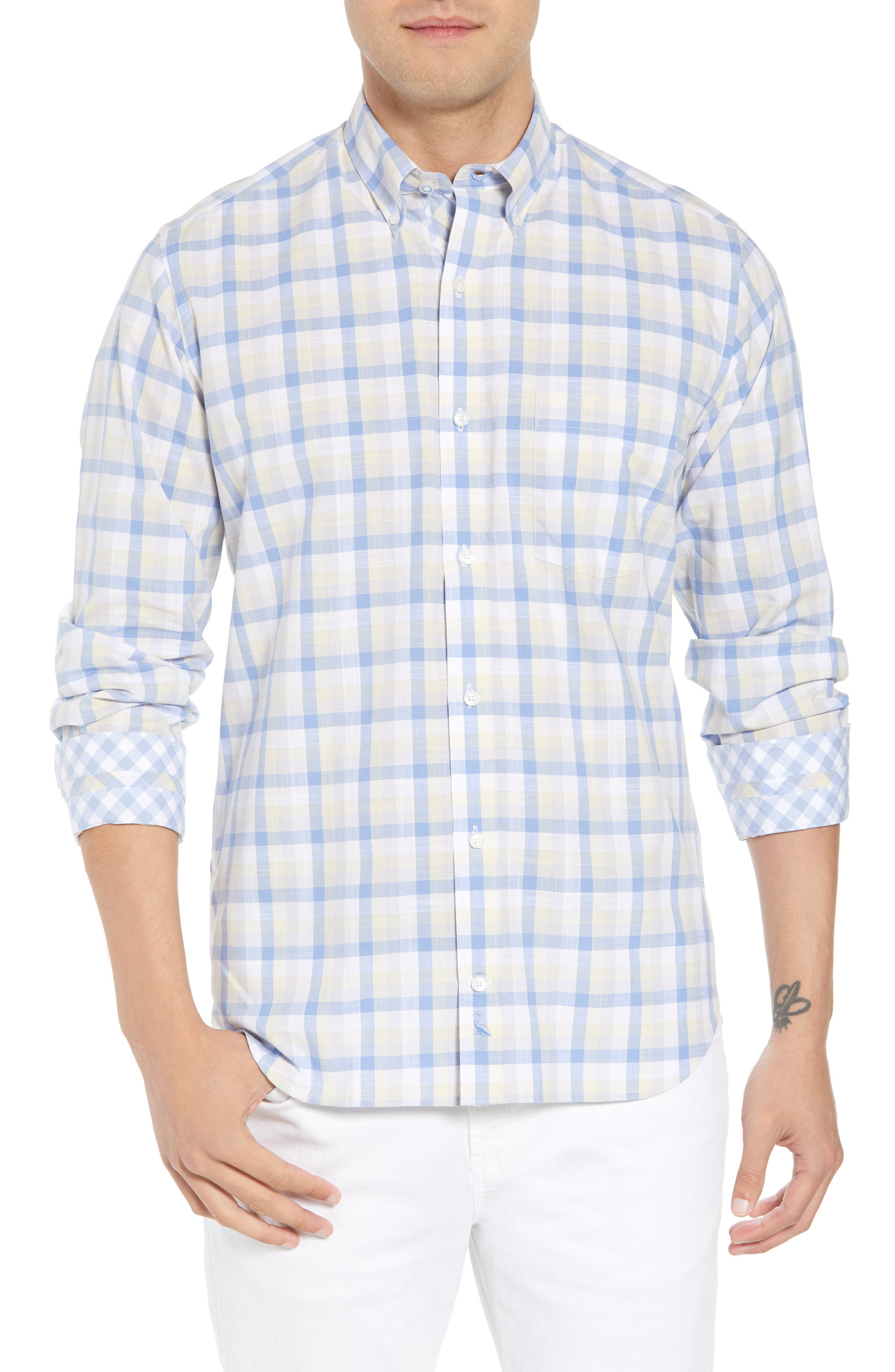 Hobbes Regular Fit Check Sport Shirt,                             Main thumbnail 1, color,                             450