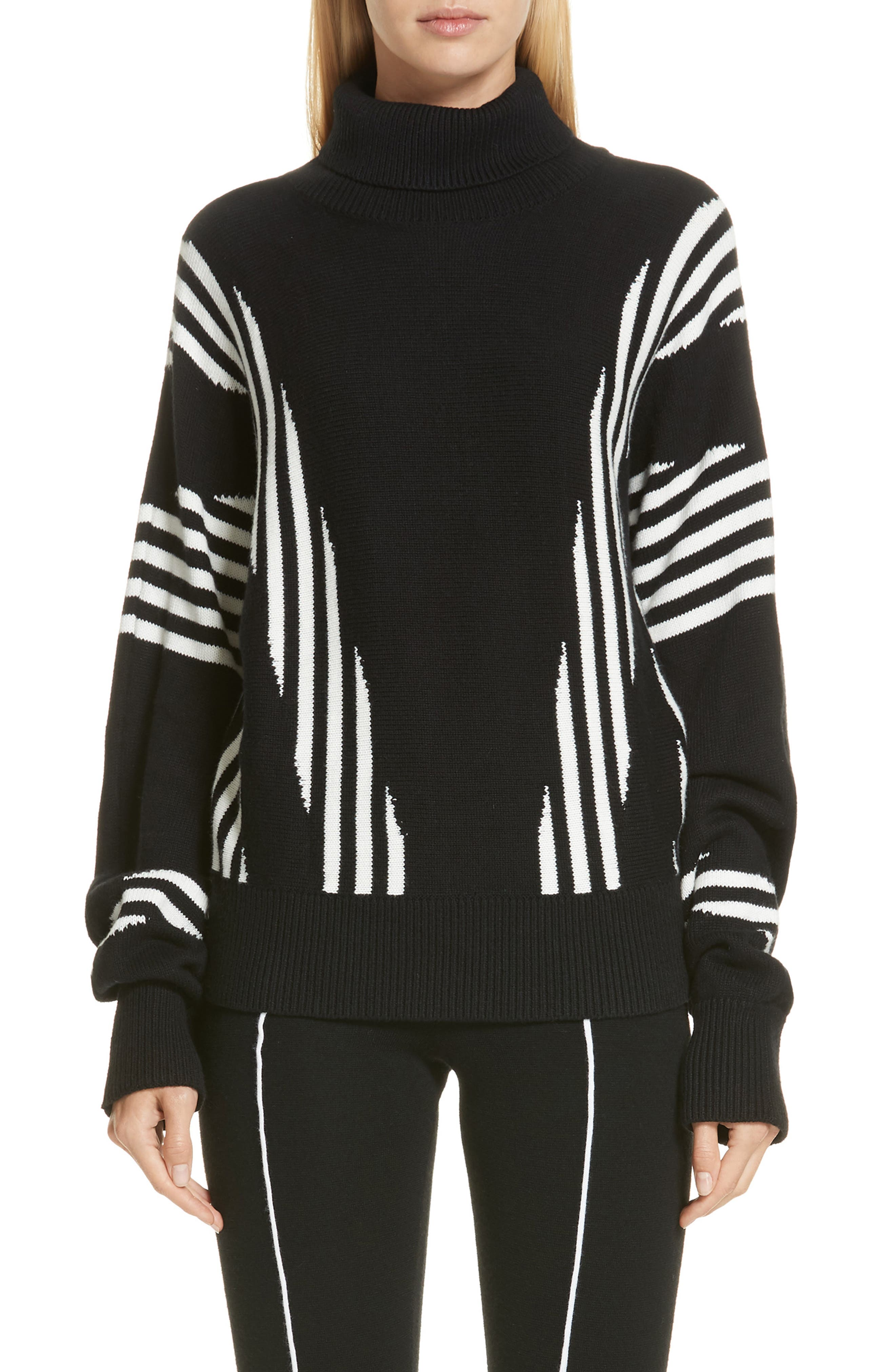VICTOR GLEMAUD Long Sleeve Cashmere Knit Pullover in Black